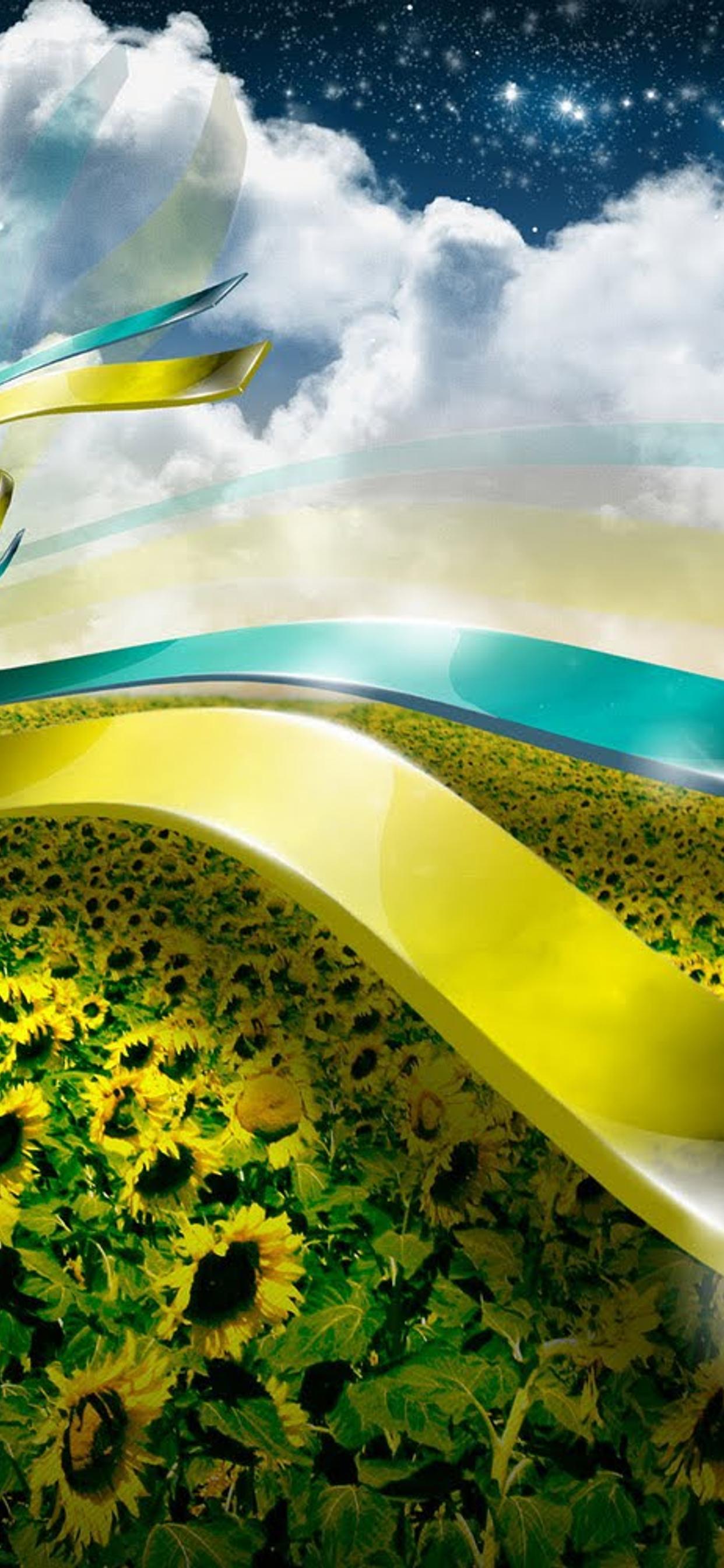 3d Nature Wallpaper Sunflower Field