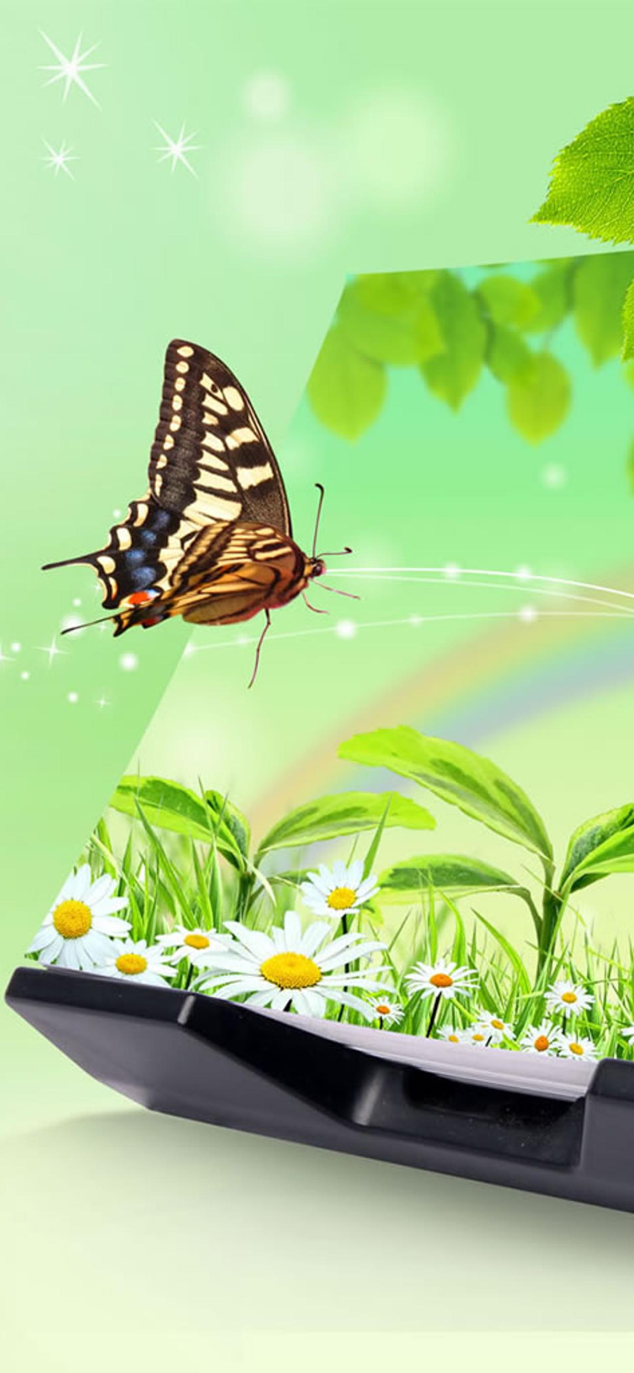 Magic Book Nature And Butterfly