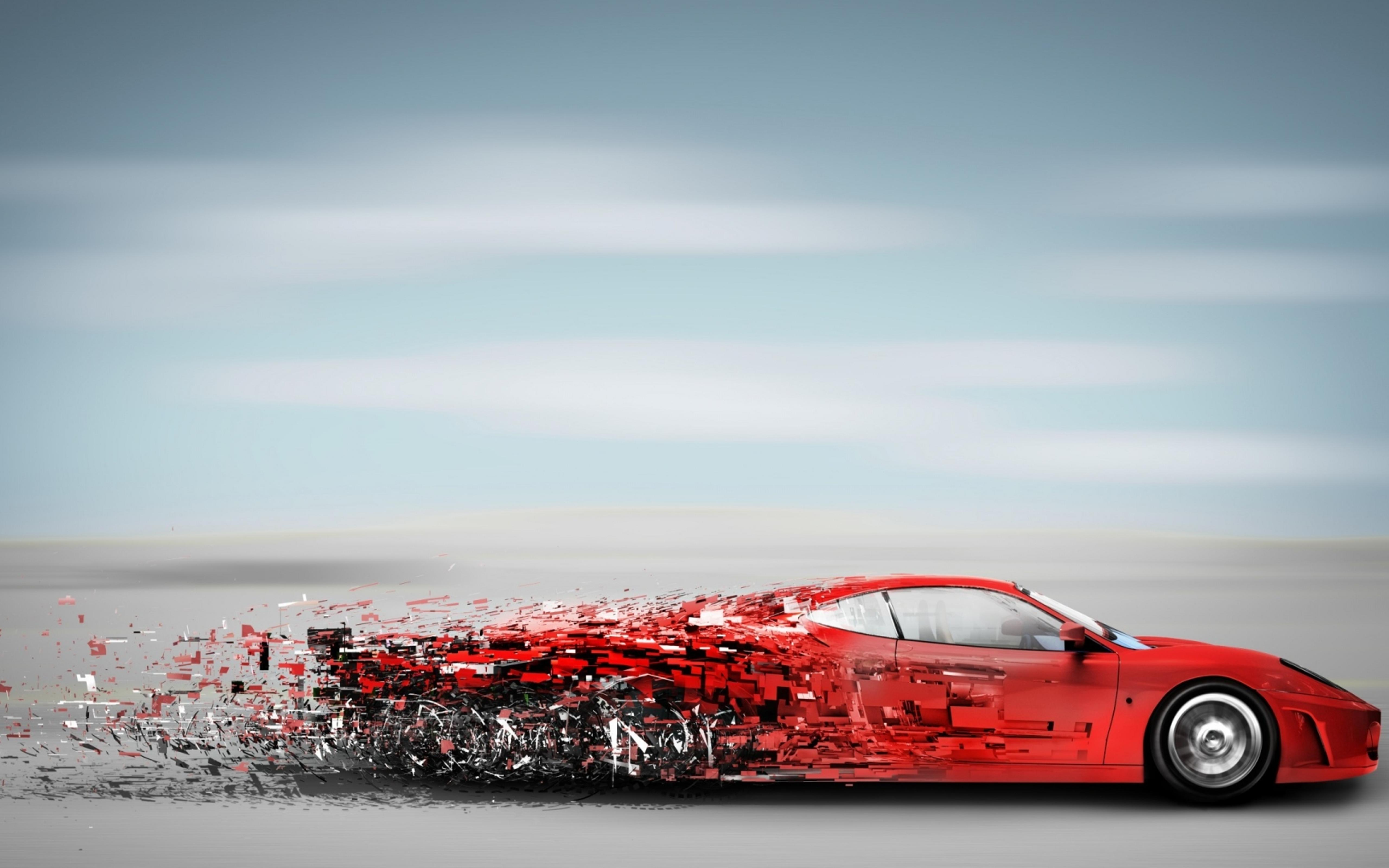 Abstract Red Speedy Car Sport Car Wallpaper