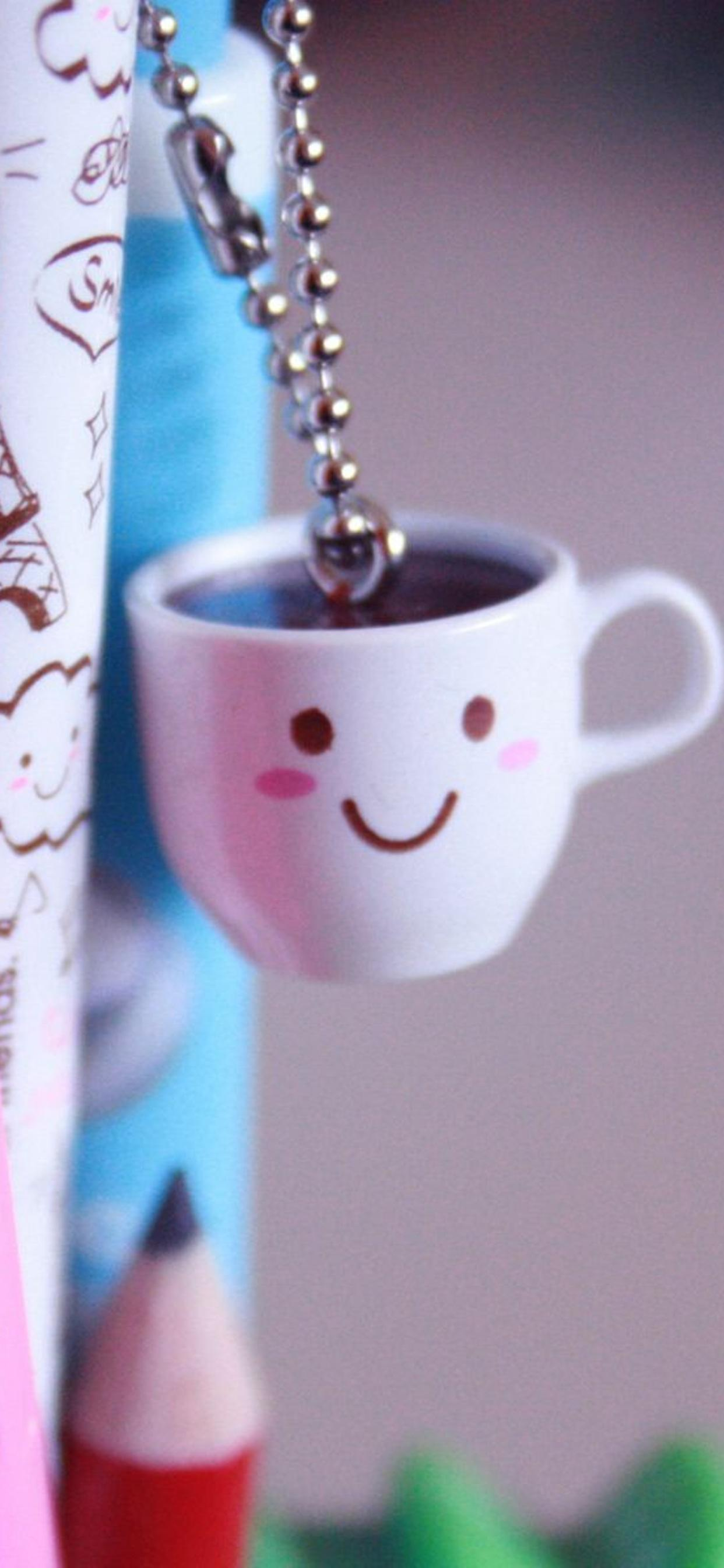 Cute Small Coffee Cup And Crayons Hd Wallpaper