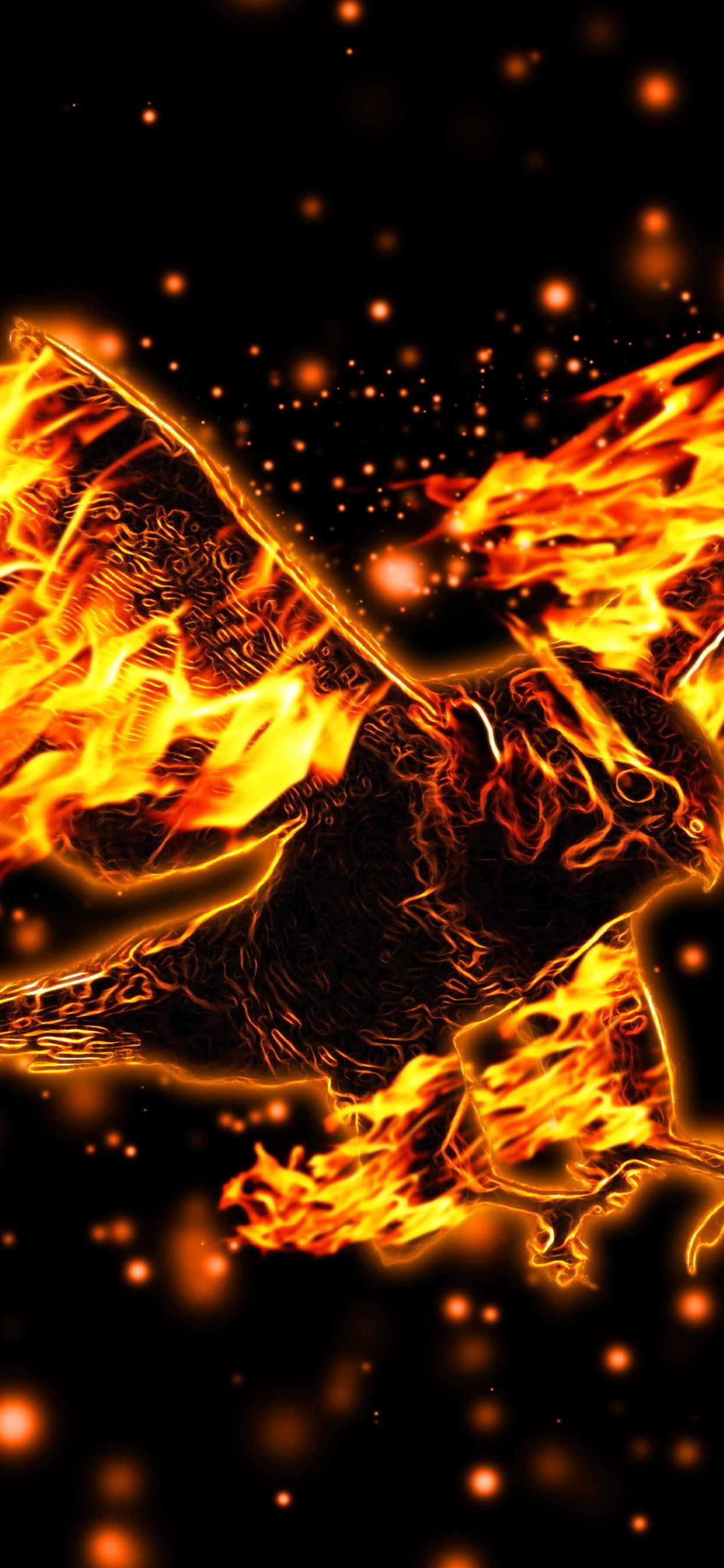Fire Eagle Abstract Eagle Wallpaper