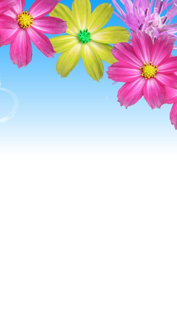 foto de Heart on the blue sky - Flower power wallpaper