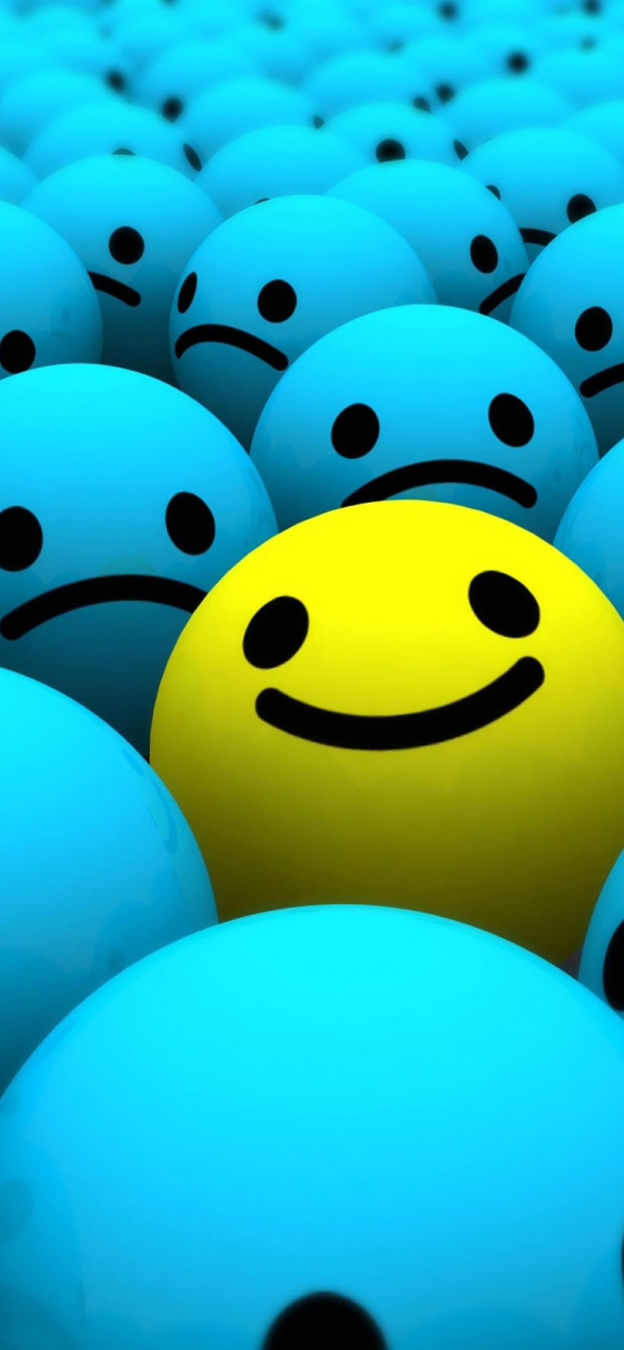 Smiley Face Blue Sad And Yelow Happy