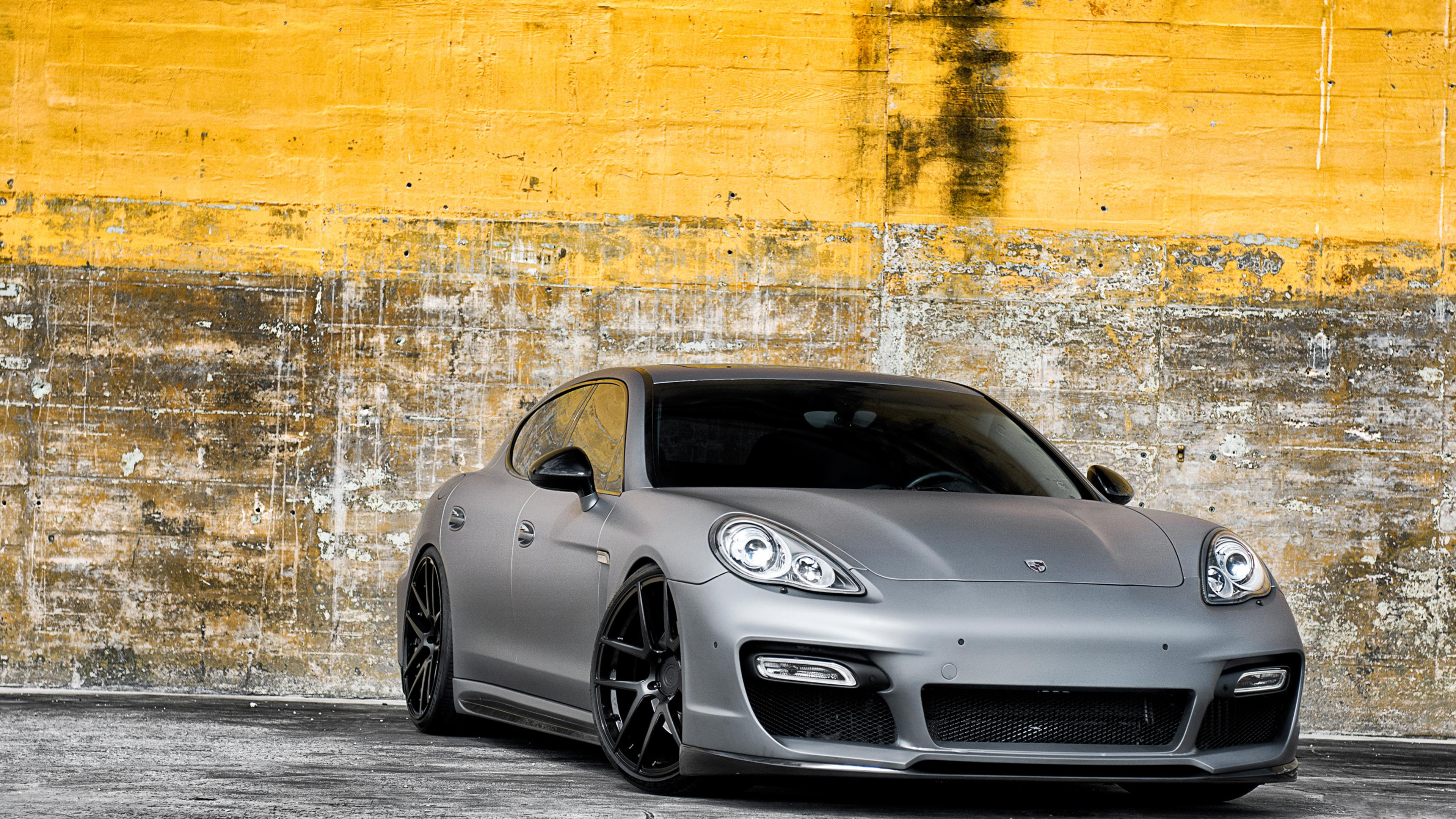 Grey Porsche Panamera With Black Rims