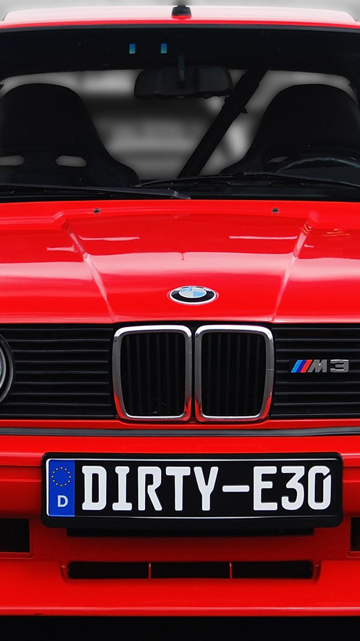 Red BMW M3 E30 - Car wallpaper