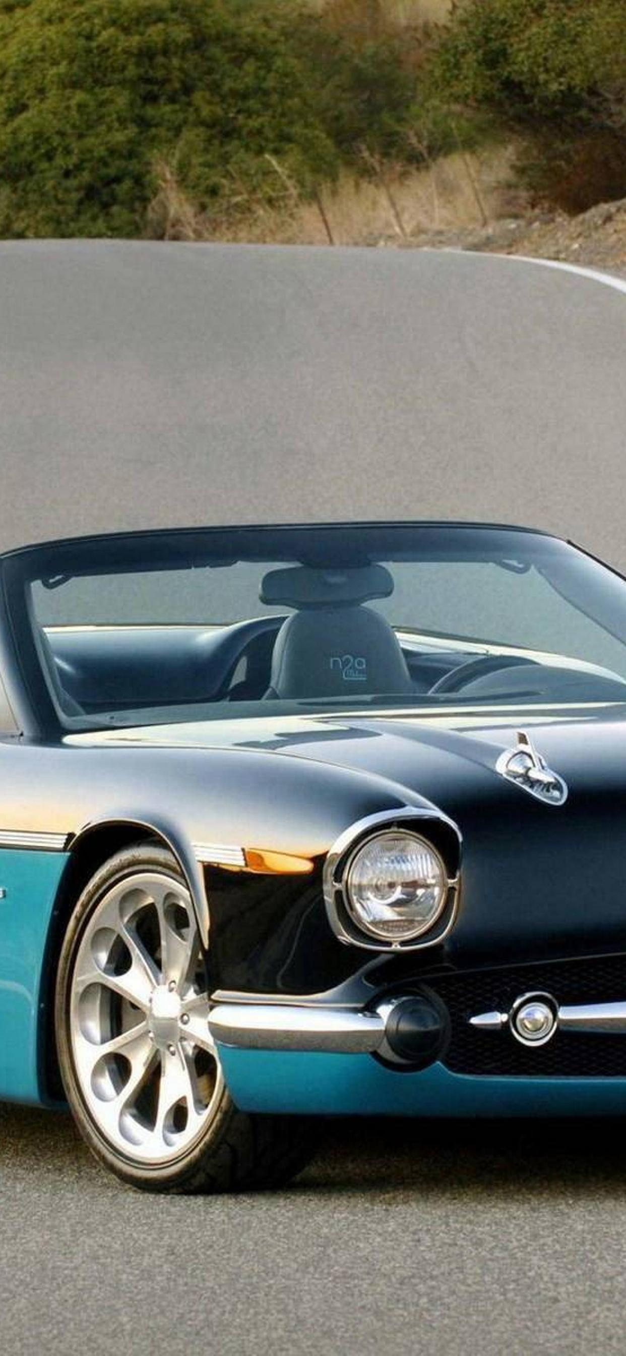 Beautiful Classic Car On The Road Hd Wallpaper