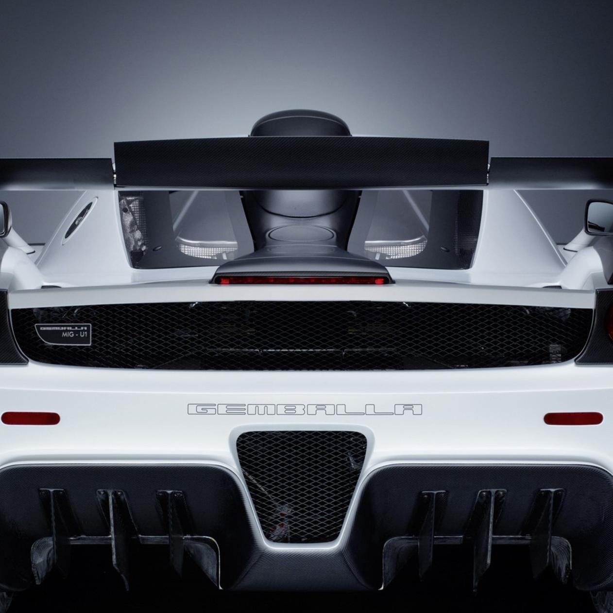 Gorgeous White Gemballa MIG-U1 Back View