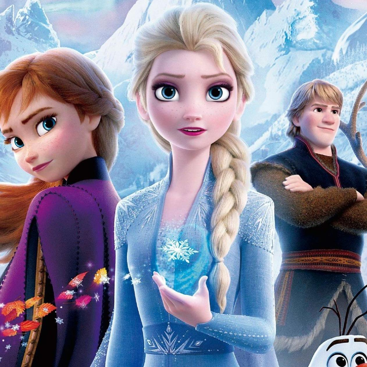 Frozen 2 The Movie Is Now On Cinema Ana Elsa And Olaf