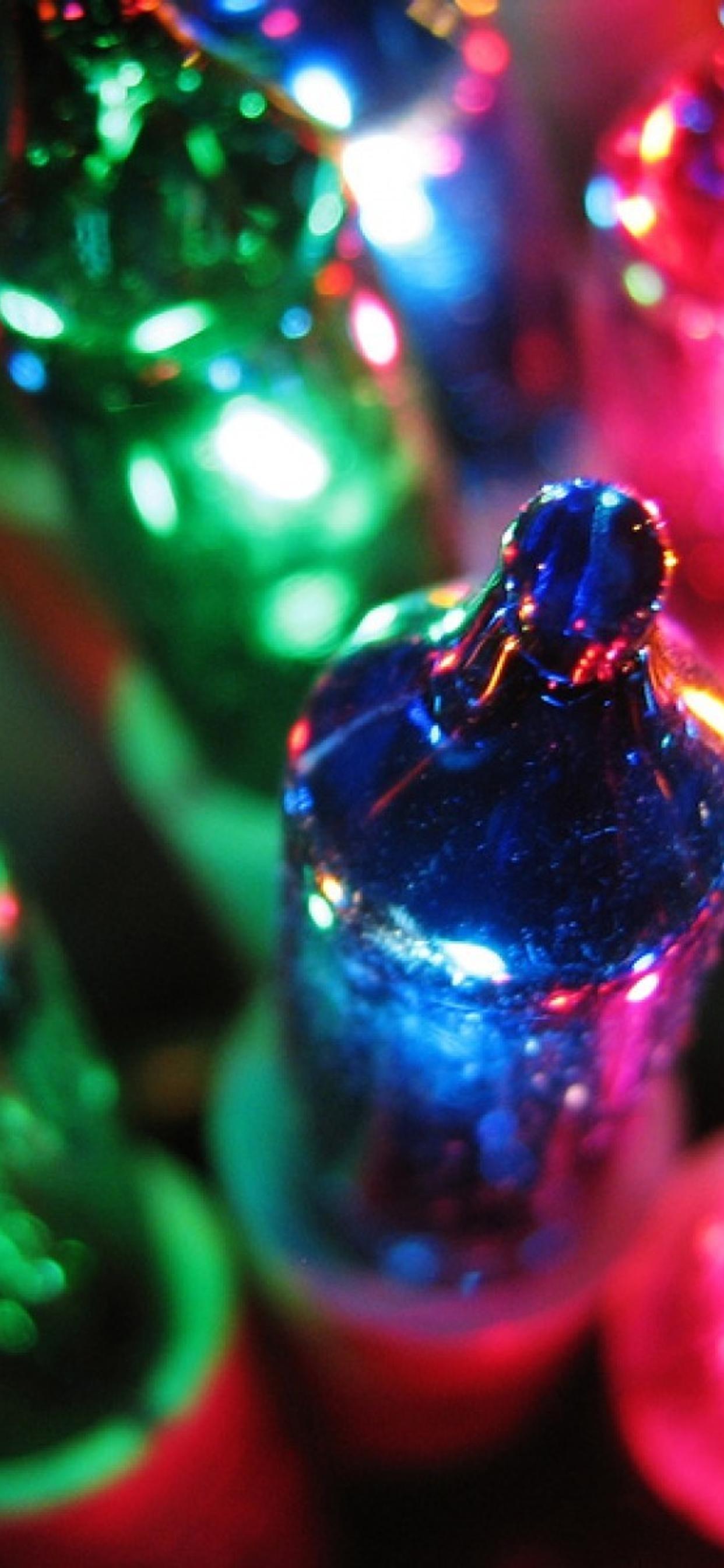 Colorful Christmas Lights Macro Hd Wallpaper