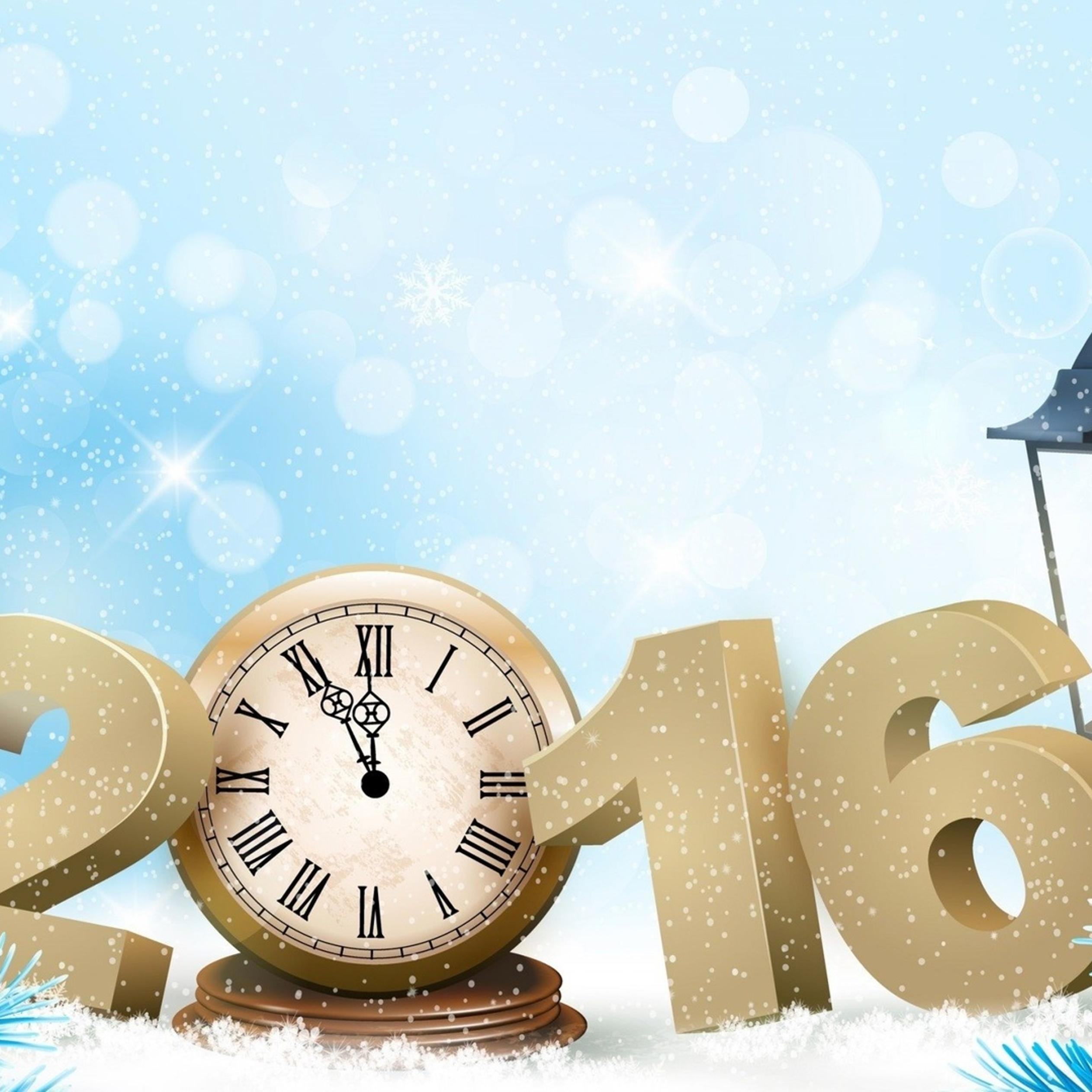 2016 in the snow happy new year wallpaper download 2524x2524