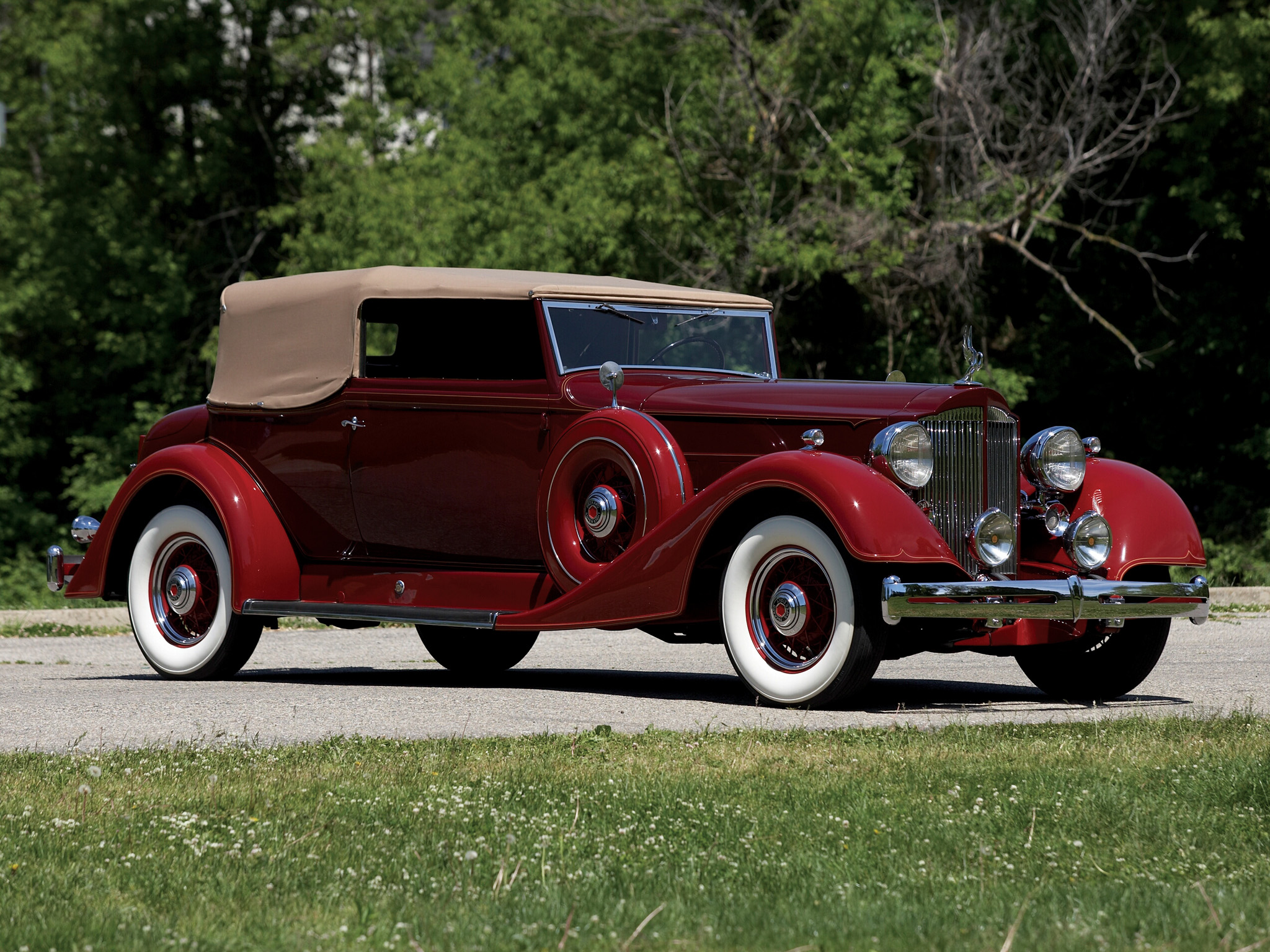 4 1934 Packard Super Eight Convertible Victoria