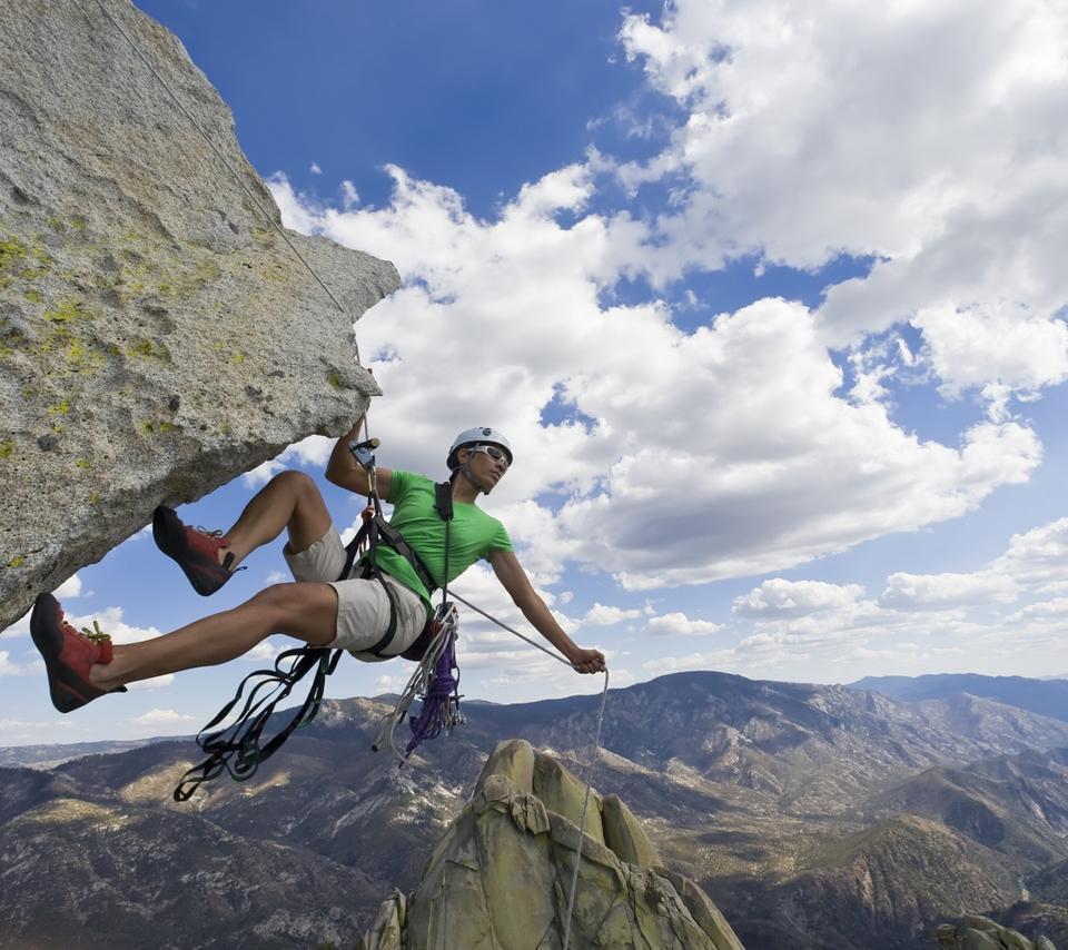 A Climber On The Big Rock