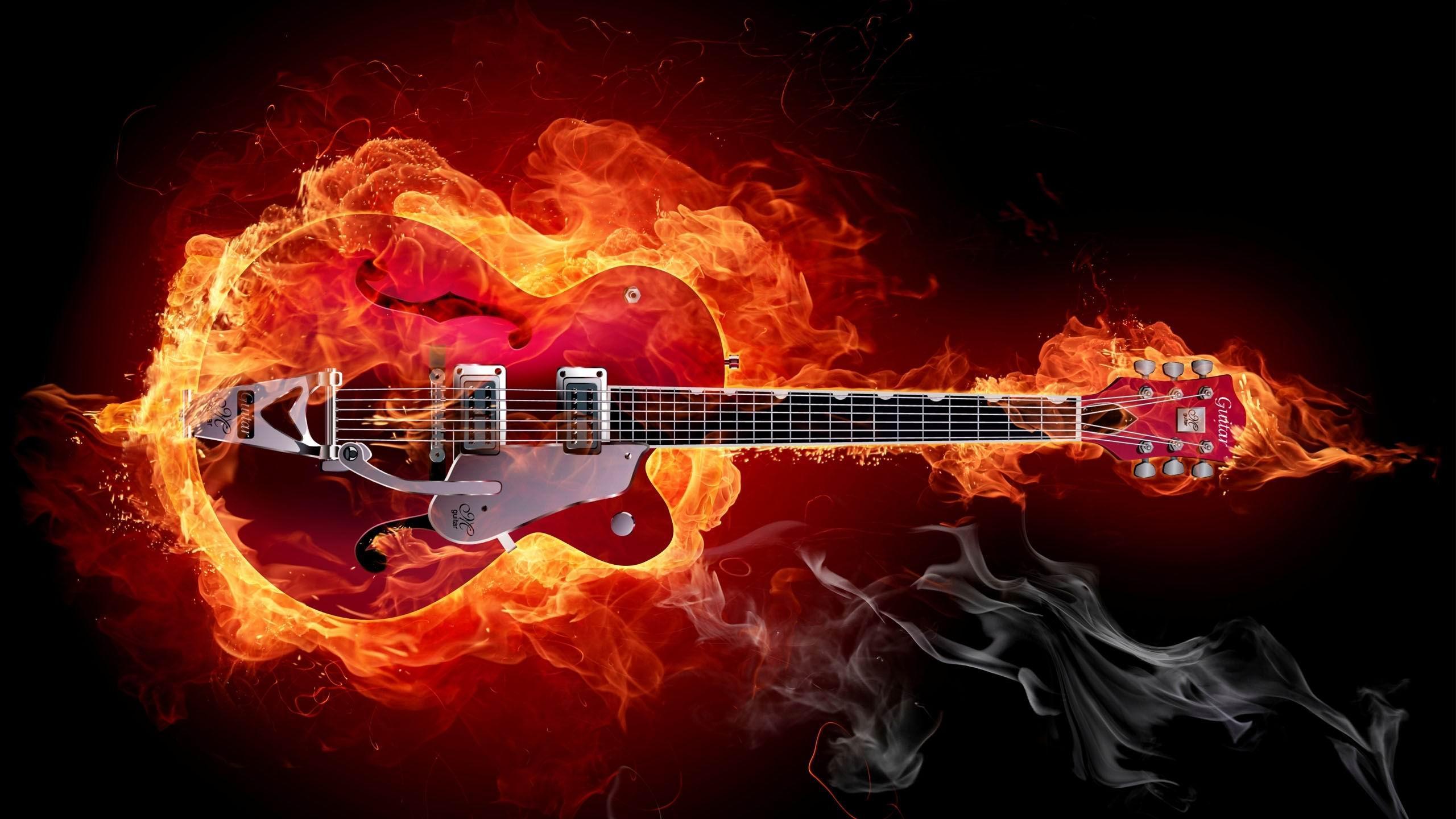 Download Wallpaper Music Guitar - a-guitar-in-flames-rock-music-guitar-2560x1440  Image_894079.jpg