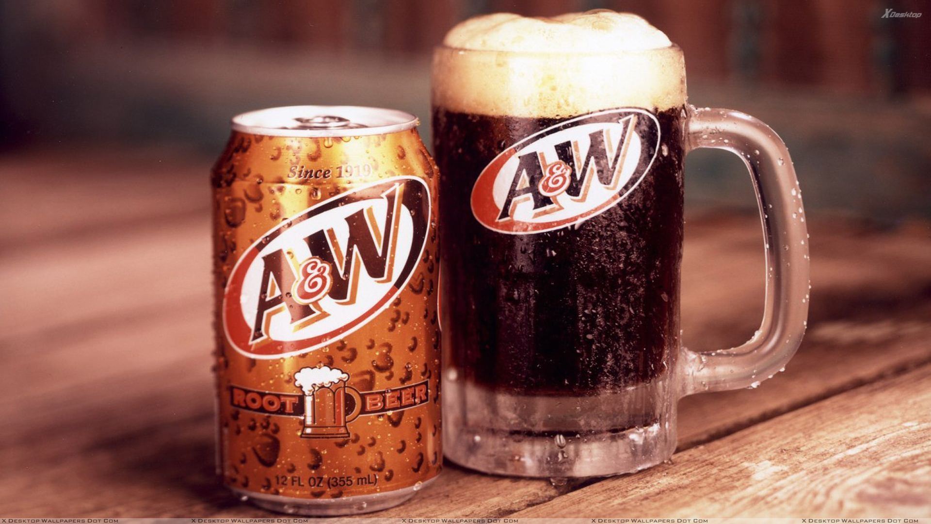 A W Delicious Root Beer Fresh Drink In Summer Holiday