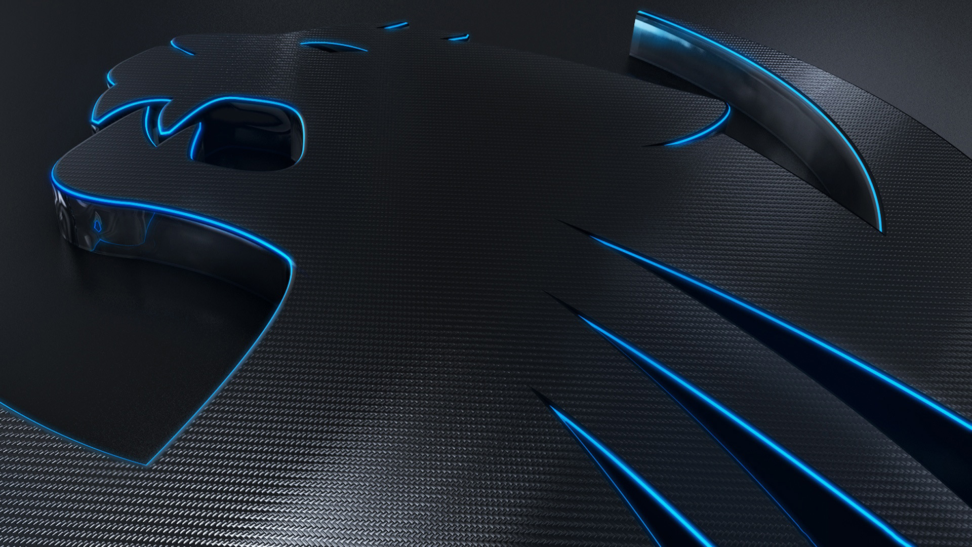 Abstract Black And Blue Hd Wallpaper