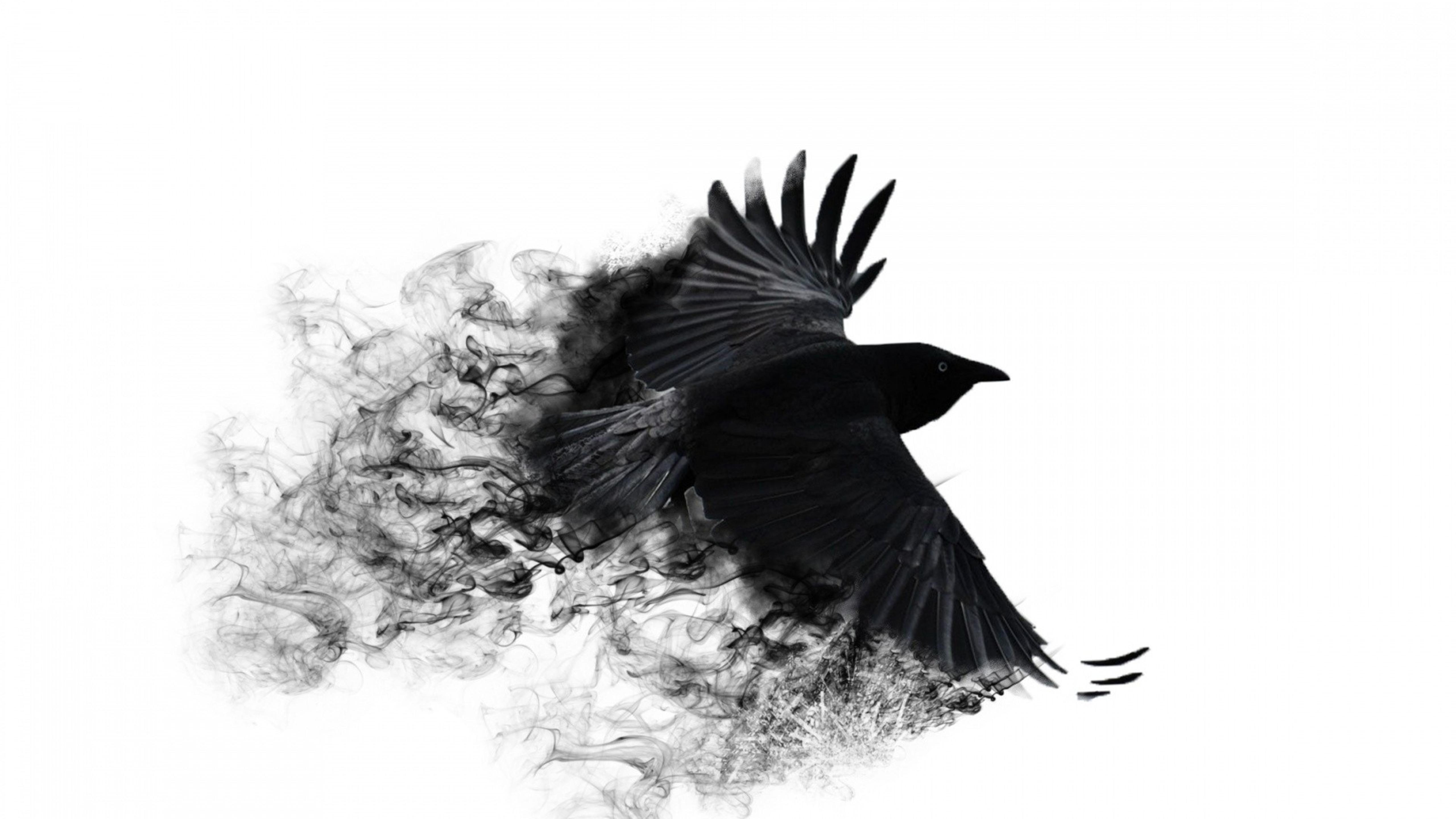 Abstract Black Crow With Broken Wings Wallpaper Download