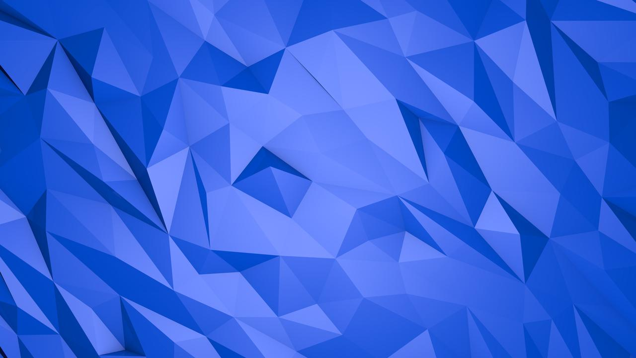 Abstract Blue Triangles