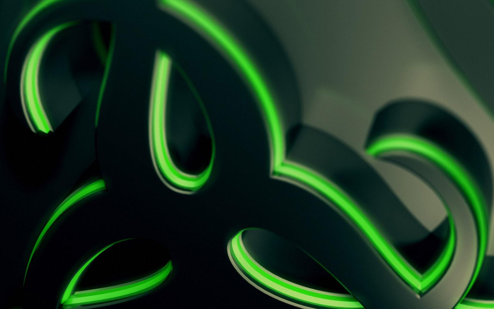 Download Wallpaper 1680x1050 Abstract Green And Black