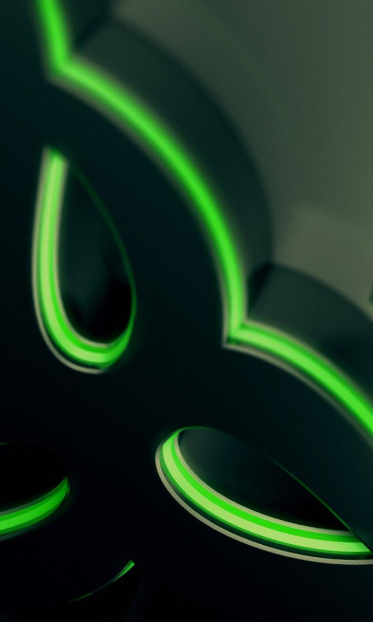 Abstract green and black wallpaper - Razer gaming ...