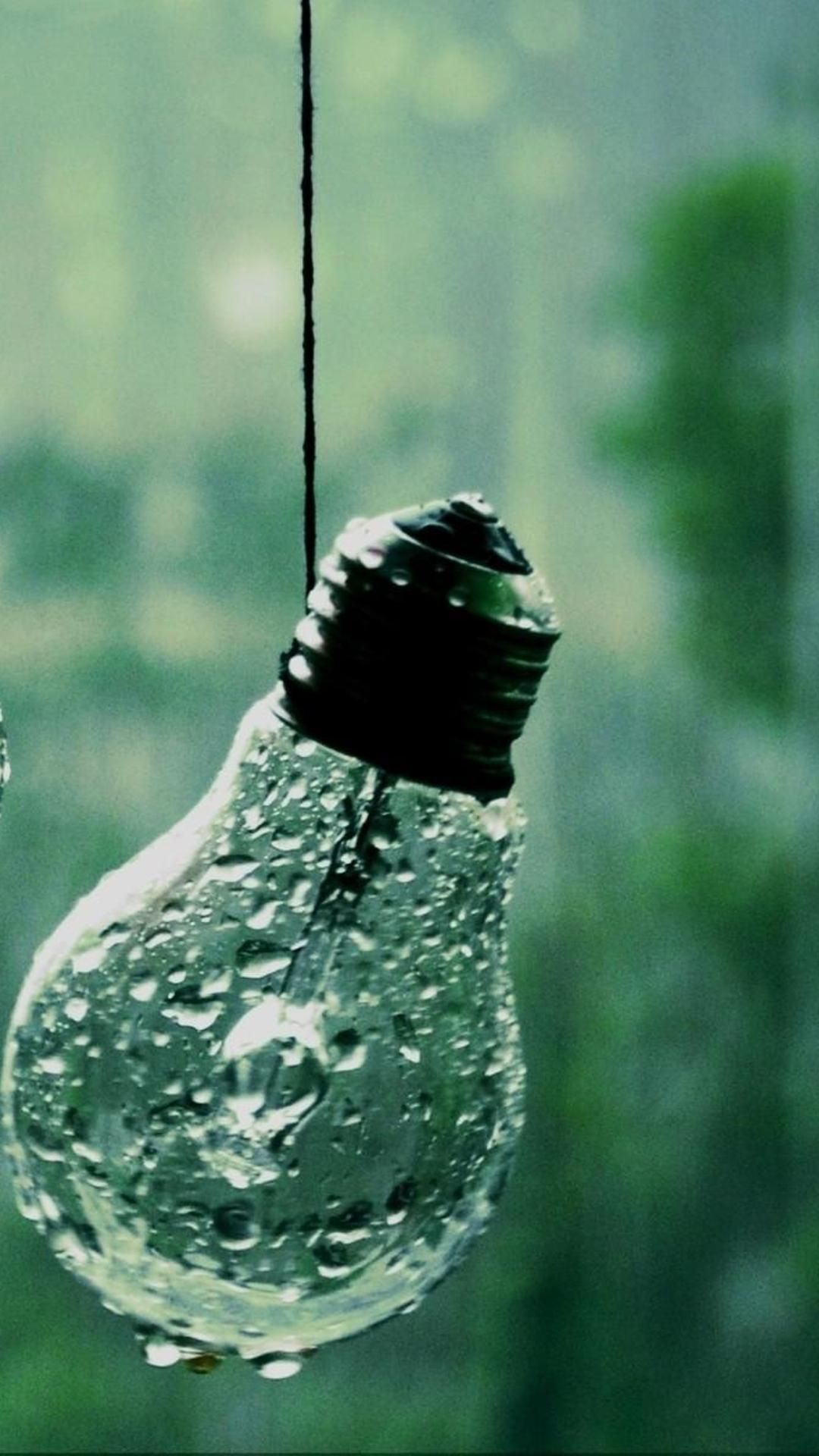 abstract wallpaper - rain on the bulb wallpaper download 1080x1920