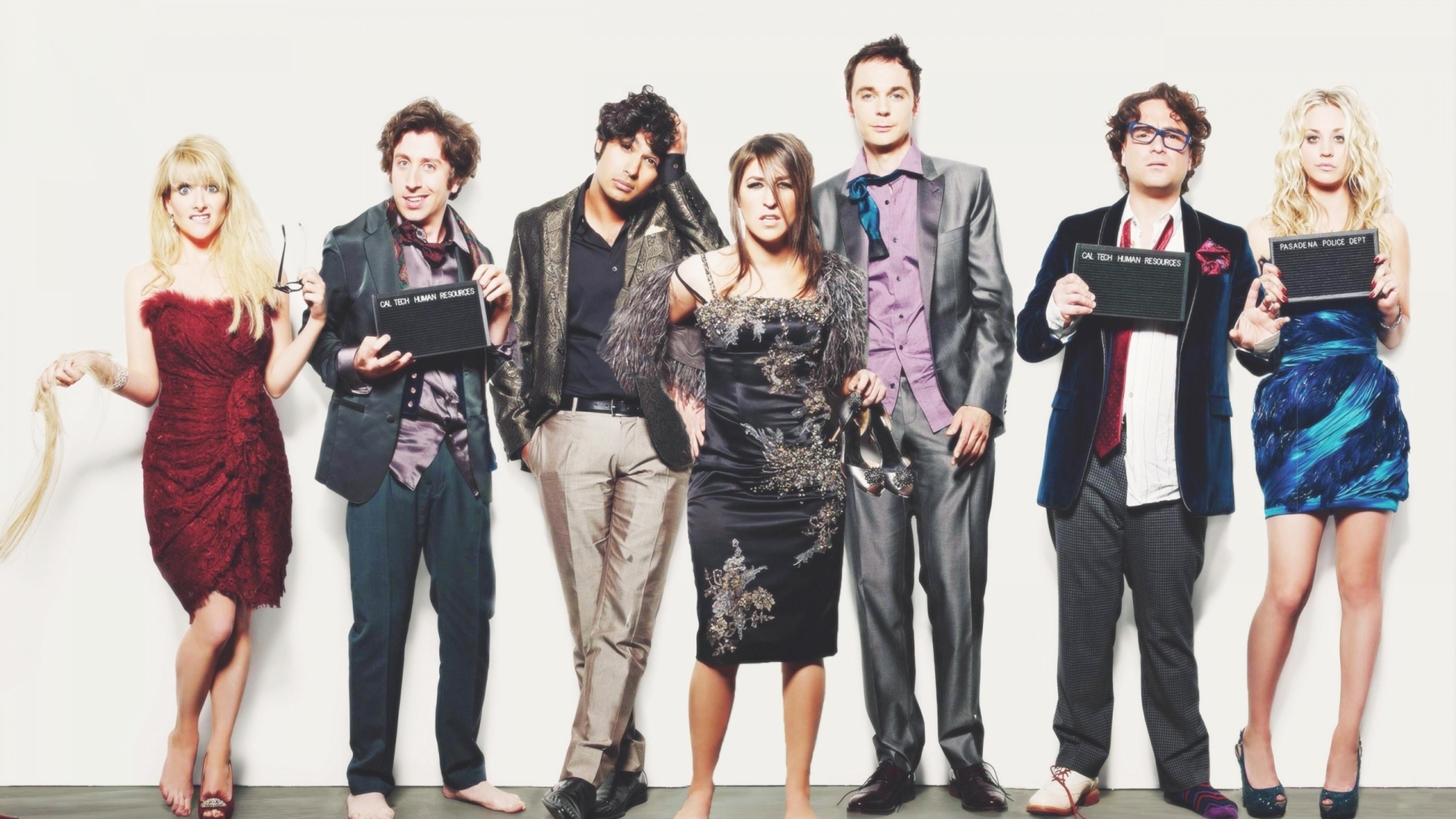 Download Wallpaper 5120x2880 Actors From The Big Bang Theory
