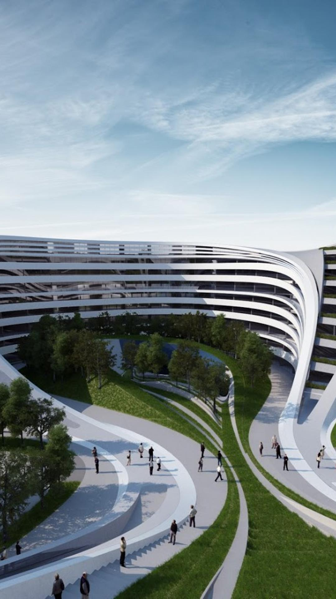 Amazing white buildings zaha hadid beko wallpaper download 1080x1920 - Wallpaper architektur ...