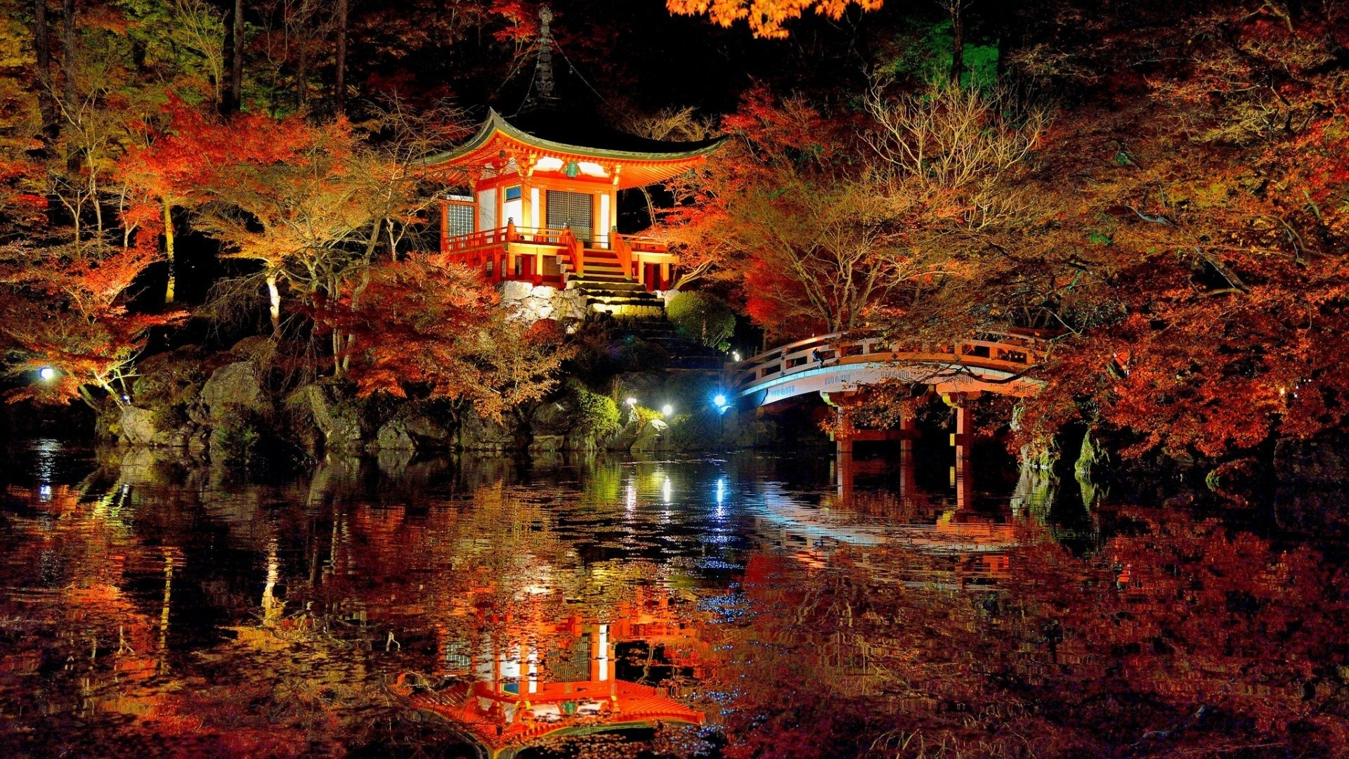 An amazing japanese garden colorful nature