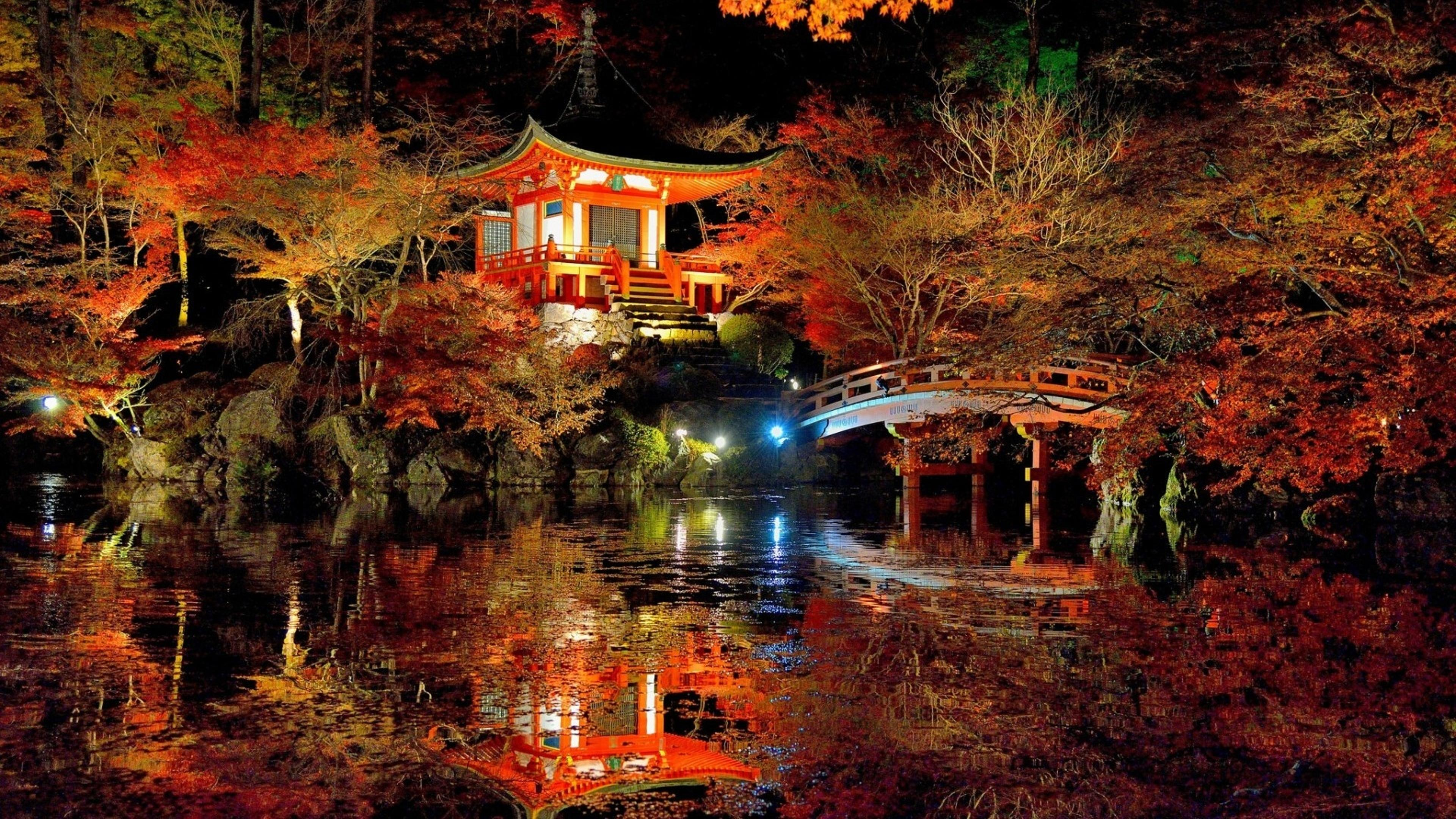 an amazing japanese garden   colorful nature wallpaper