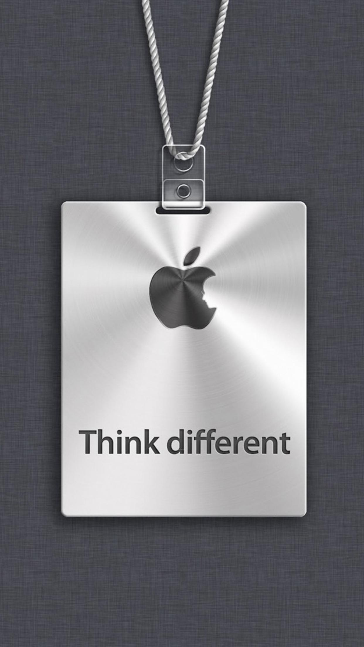 apple logo - think different - hd wallpaper wallpaper download 1242x2208