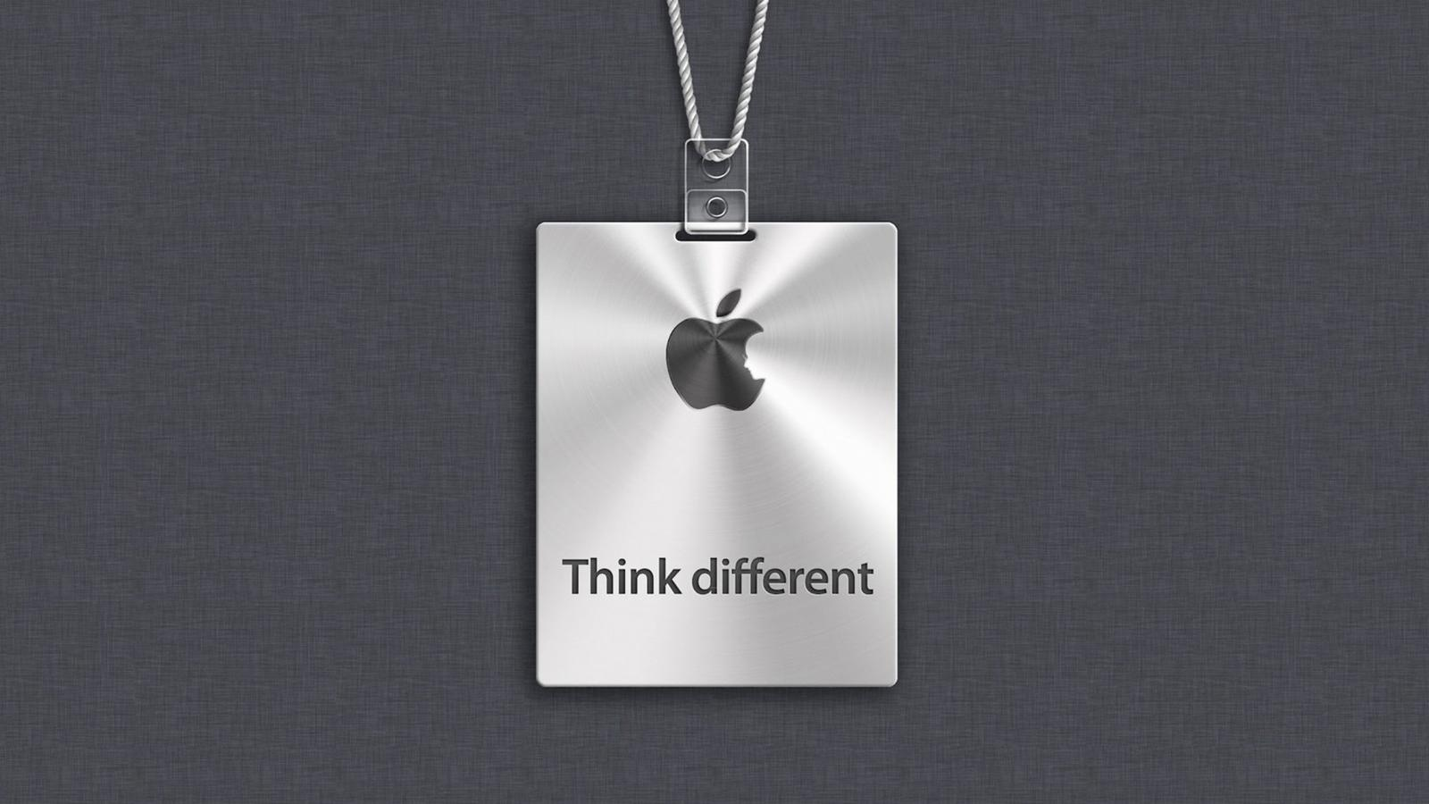 Apple Logo Think Different Hd Wallpaper Wallpaper