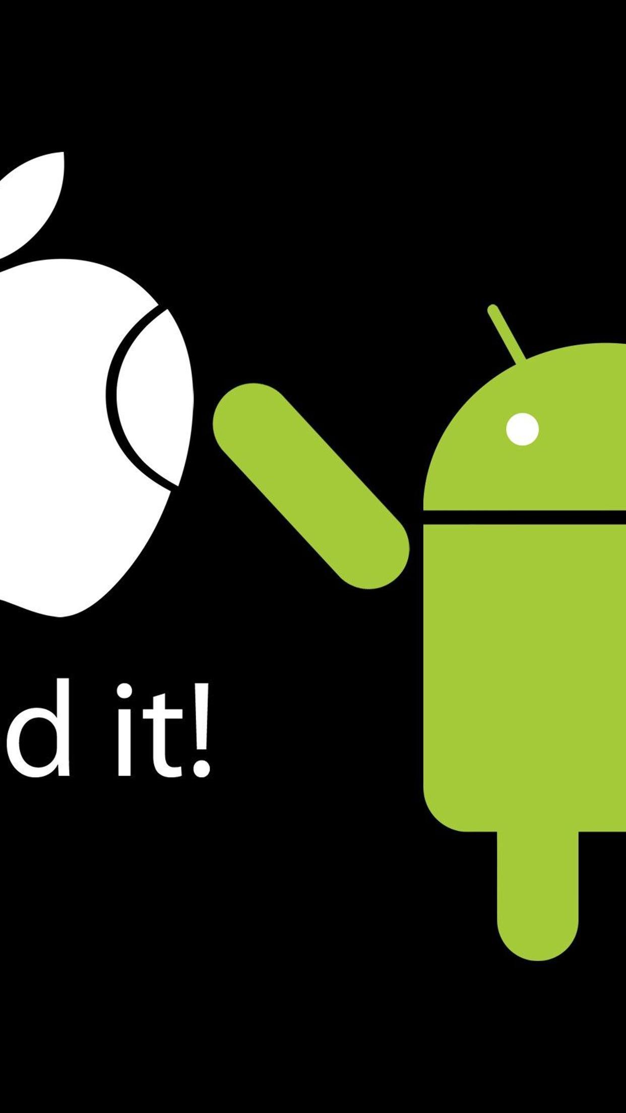 apple vs android i fixed it funny wallpaper wallpaper download 1242x2208