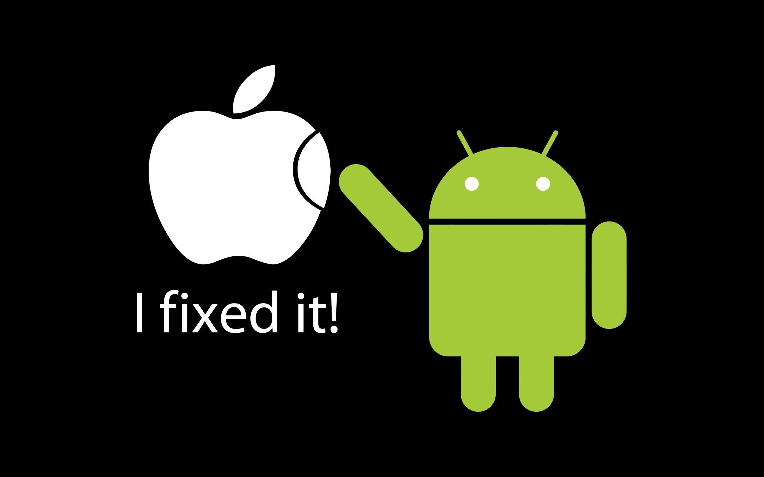 Acura Vs Lexus >> Apple vs Android - I fixed it - Funny wallpaper