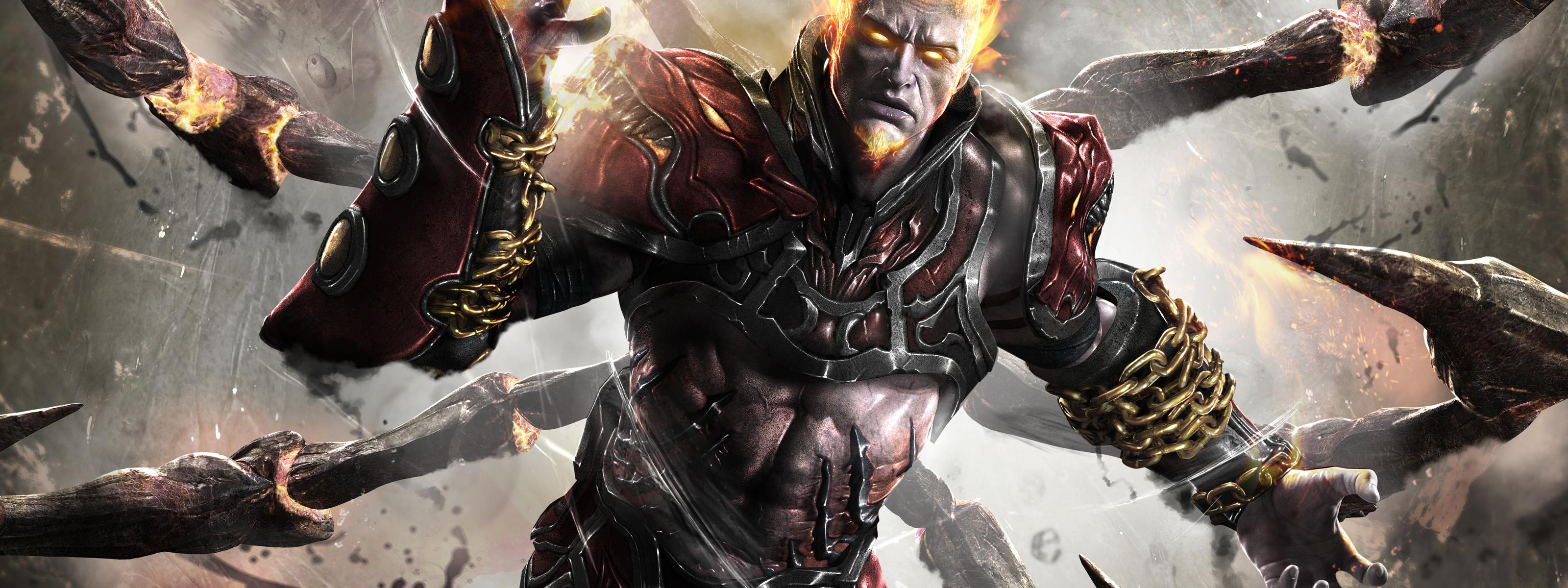 Ares from god of war ascension wallpaper download 3200x1200 download wallpaper 3200x1200 ares from god of war ascension voltagebd Image collections