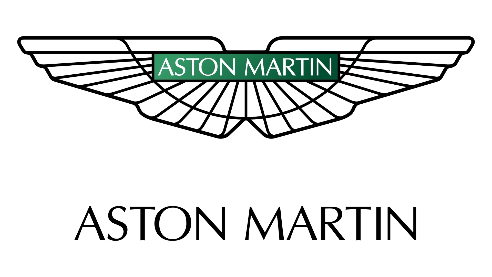 Aston Martin Emblem White And Green Logo X