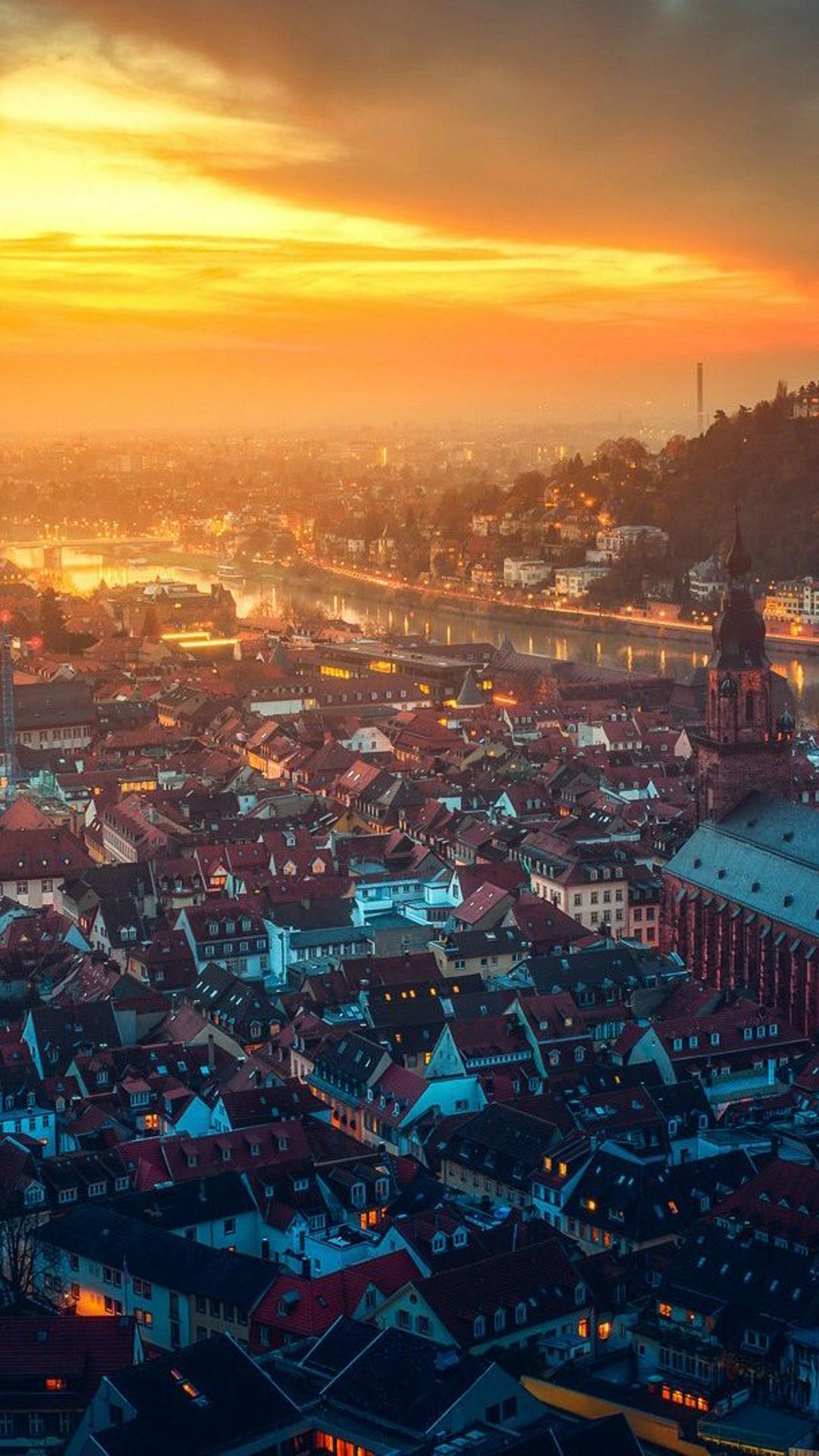 Awesome View Of A City In Germany Wallpaper Download 1080x1920