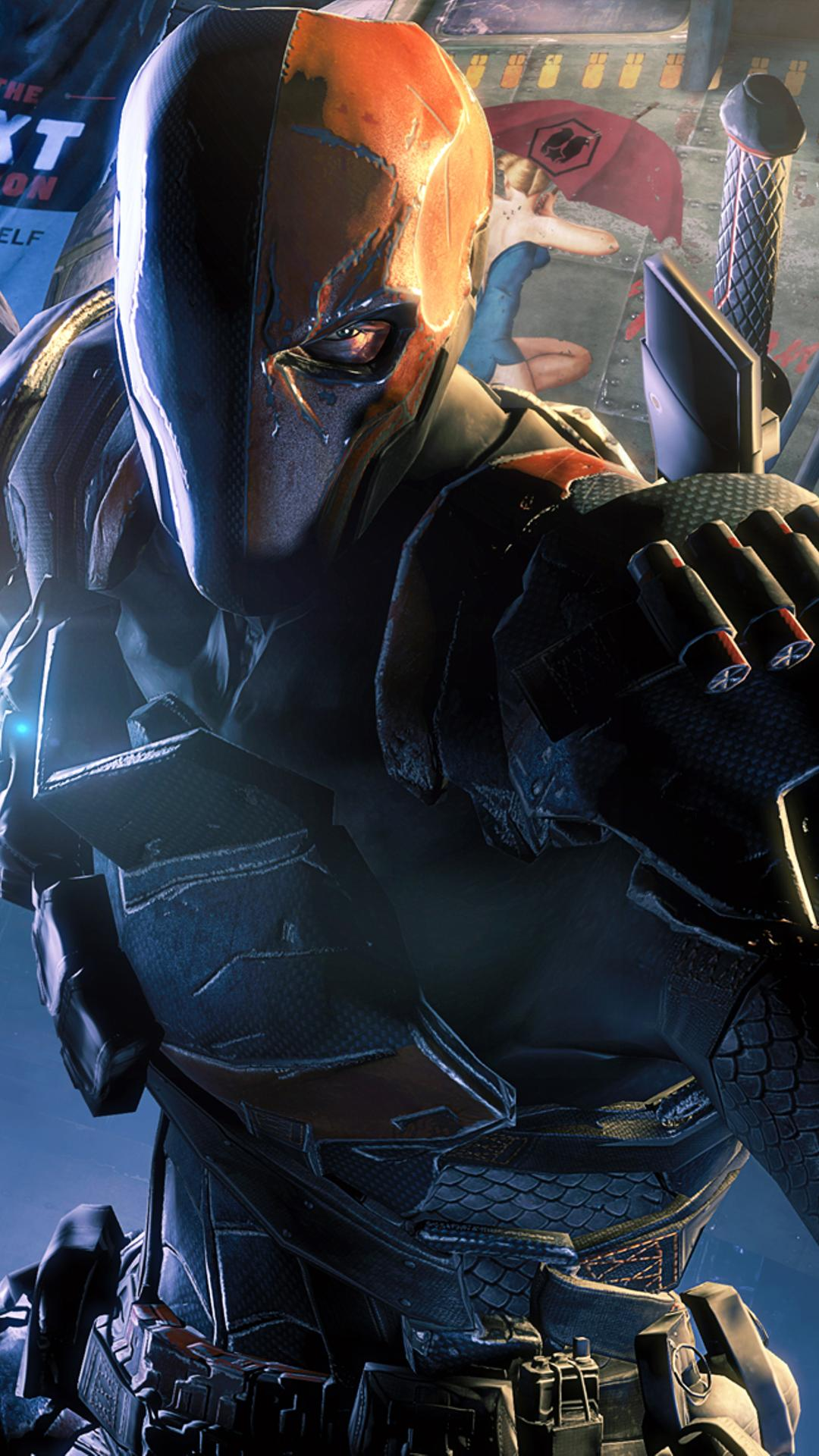 Batman Arkham Origins Deathstroke HD Wallpaper Download 1080x1920