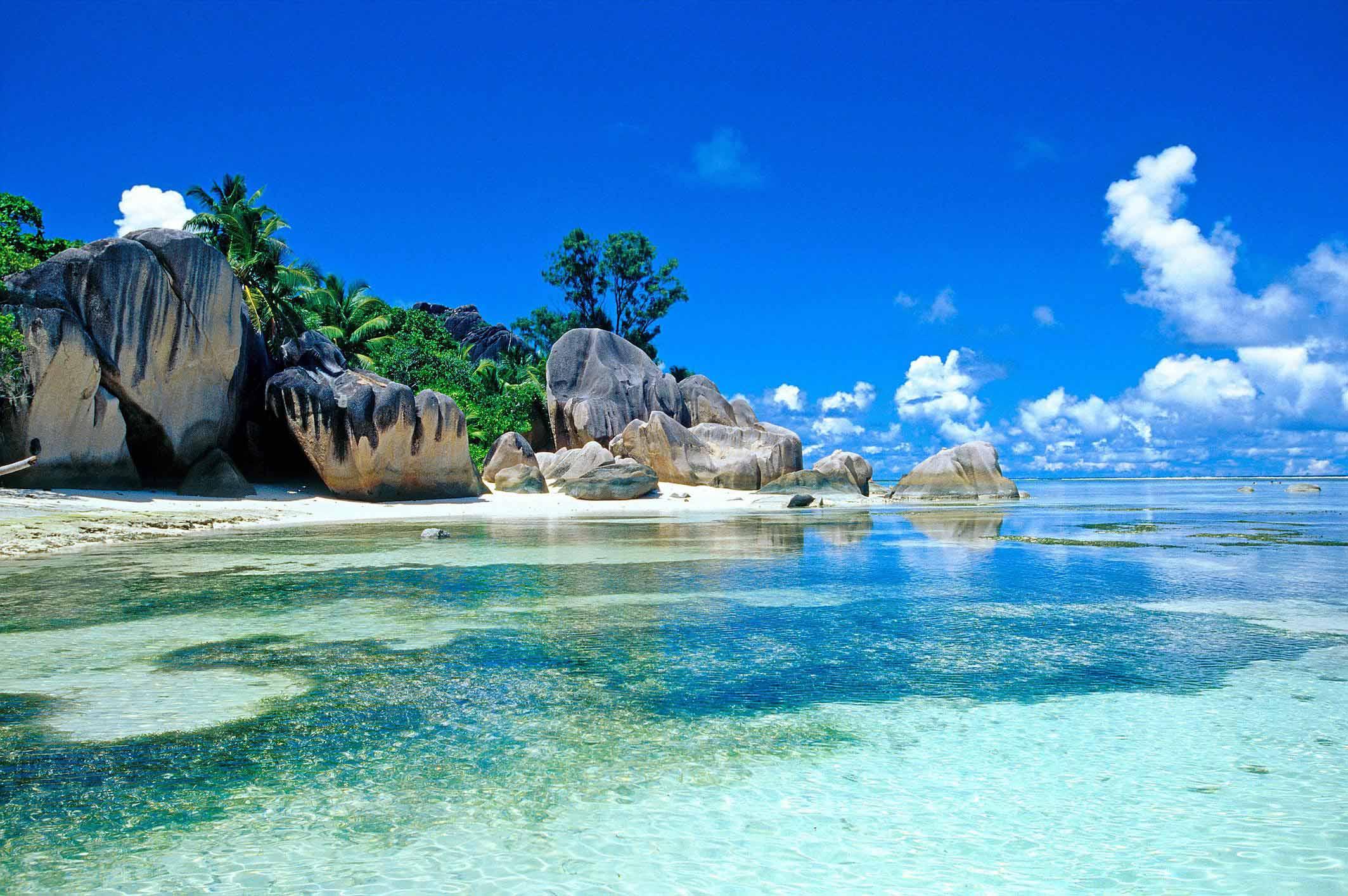 Beautiful beach in the summer season