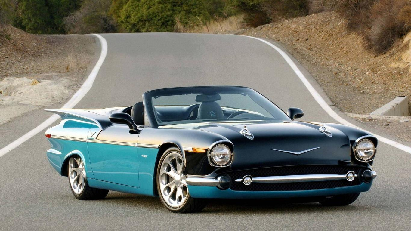 Beautiful Classic Car On The Road Hd Wallpaper Wallpaper Download