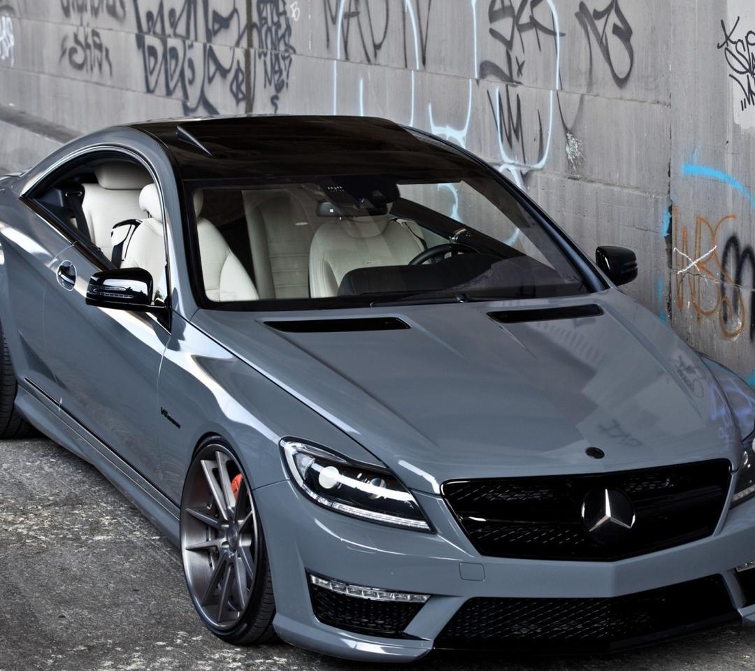 Beautiful Gray Mercedes CL63 AMG Wallpaper Download 1080x960