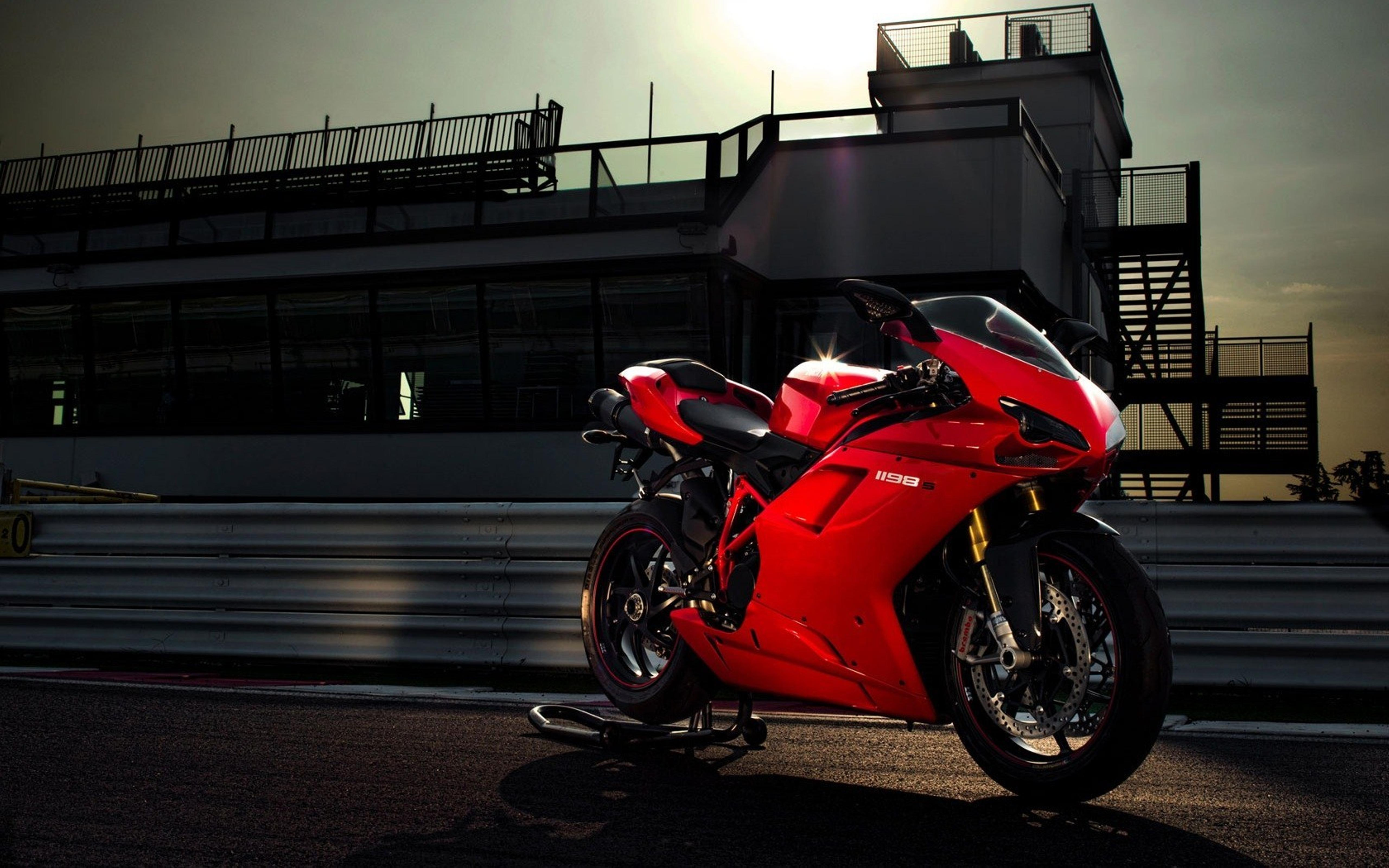 beautiful red ducati 1198 motorcycle wallpaper download 5120x3200