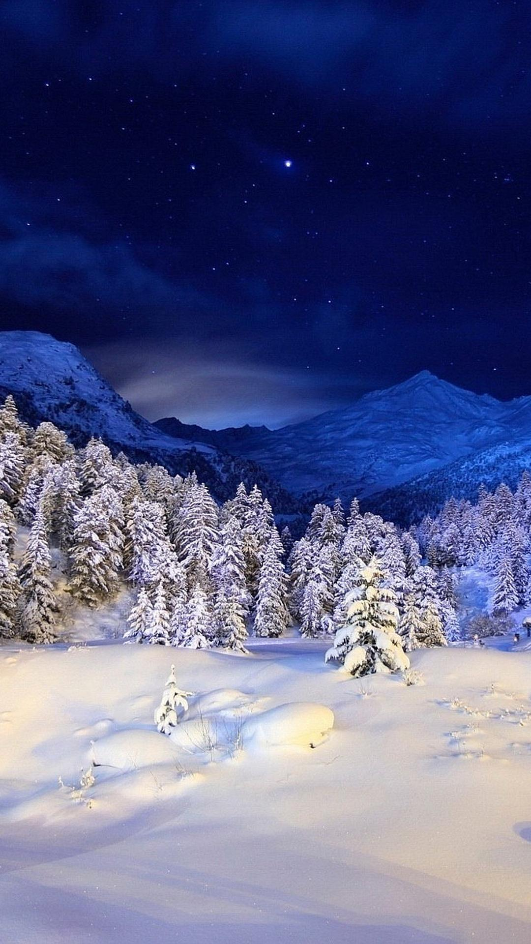 Aston Martin Models >> Beautiful winter night on the top of the mountain ...