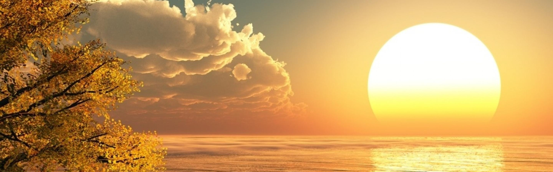 big sunrise on the ocean - hd wallpaper wallpaper download 2880x900
