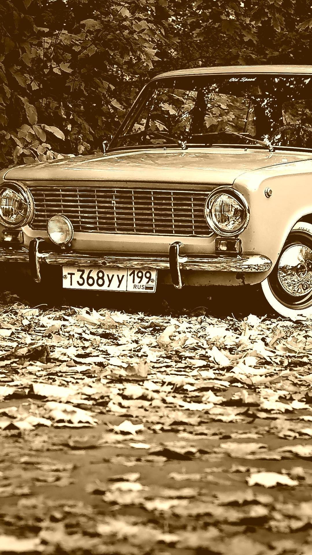 Black and white wallpaper - Old vintage car Wallpaper Download 1080x1920