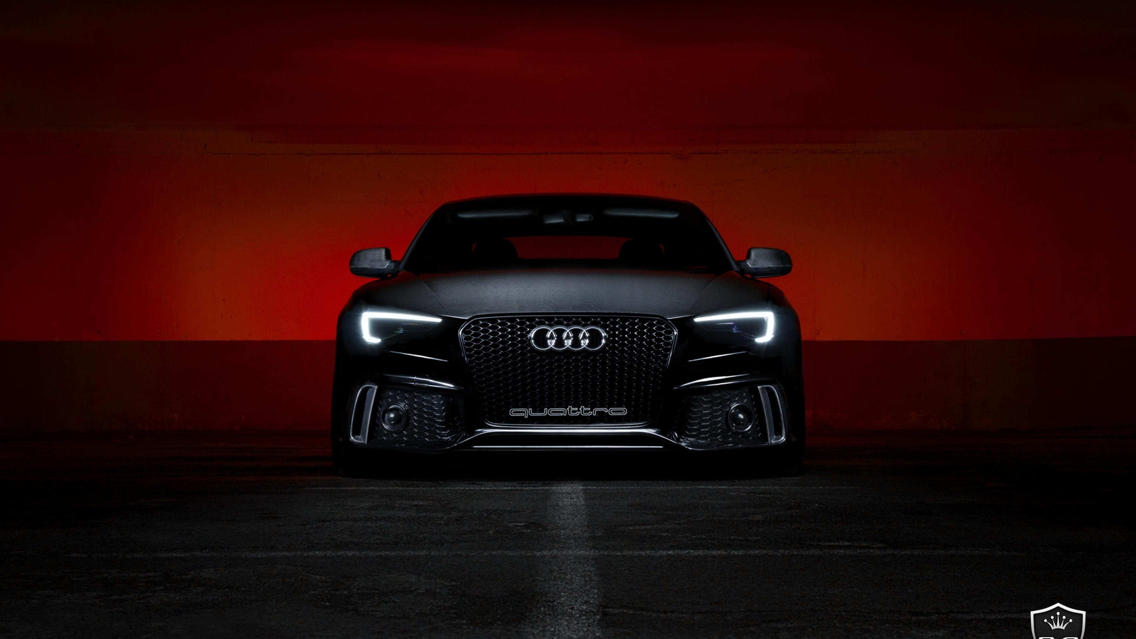 Black Audi S5 Front View - Dark wallpaper Wallpaper ...