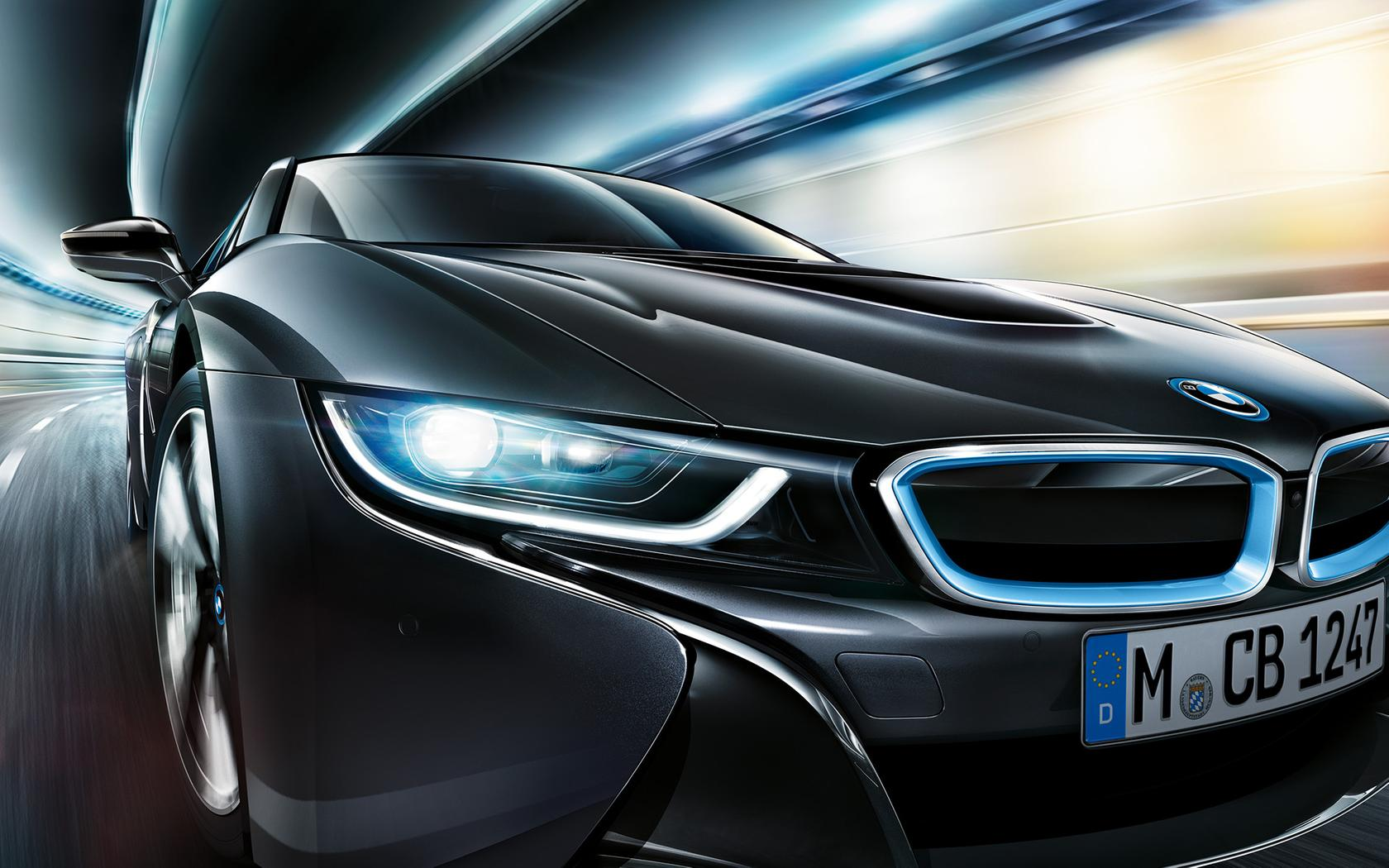 Black Bmw I8 On The Road Bmw Wallpaper Wallpaper Download 1680x1050