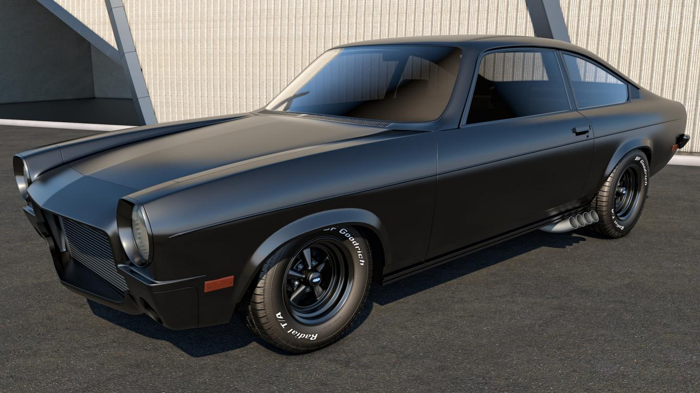 Black Chevrolet Vega Vintage Car Wallpaper Wallpaper Download 1366x768