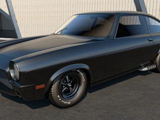 Black Chevrolet Vega Vintage Car Wallpaper Wallpaper Download 320x240