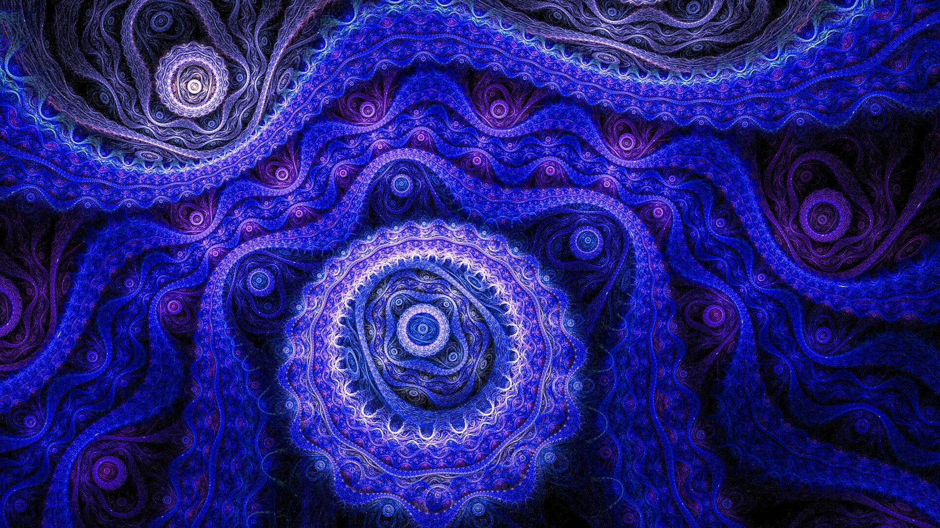 Blue and purple fractal - Design wallpaper