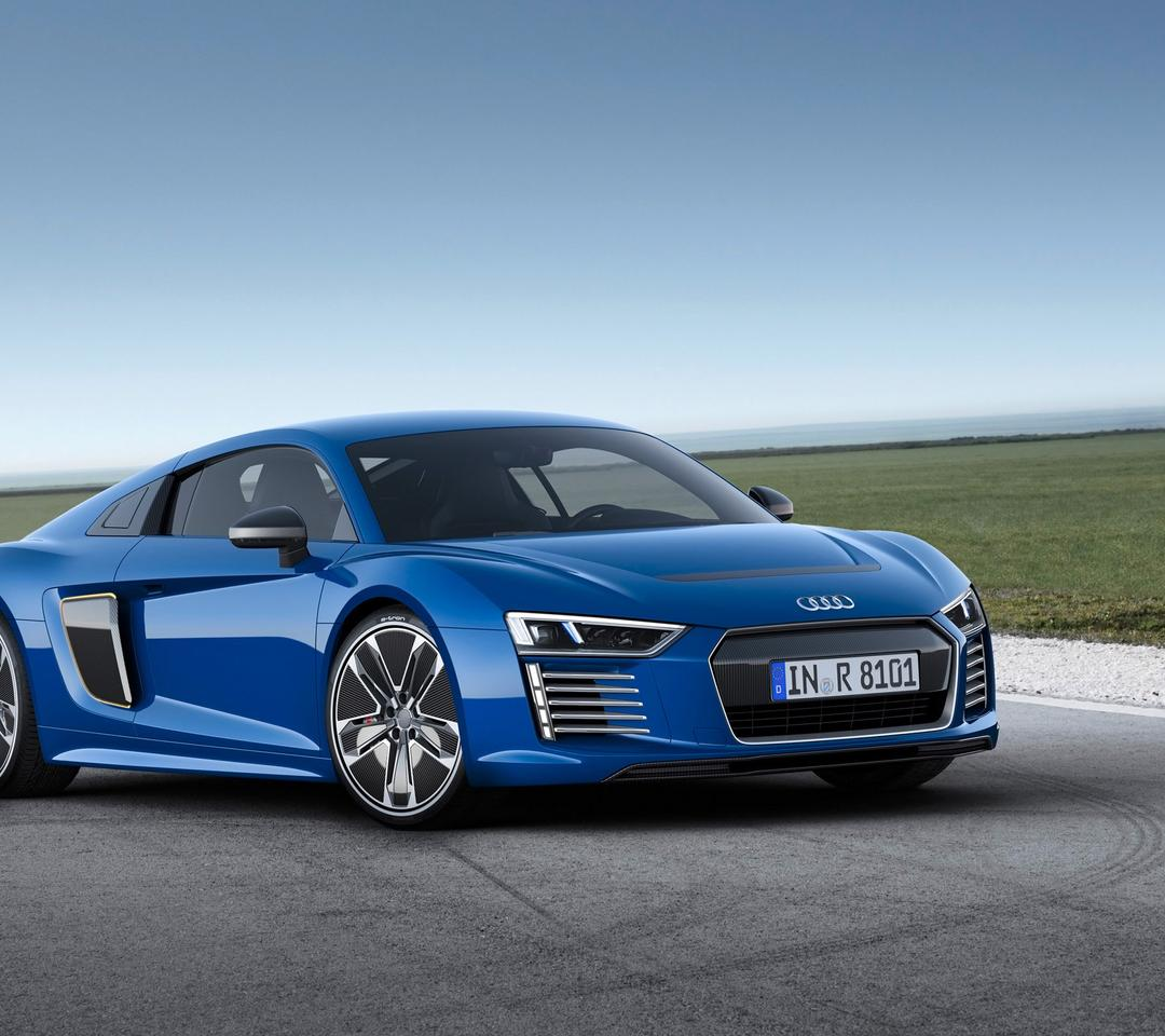 Audi Wallpaper: Blue Audi R8 E-tron, Sport Car Wallpaper Download 1080x960