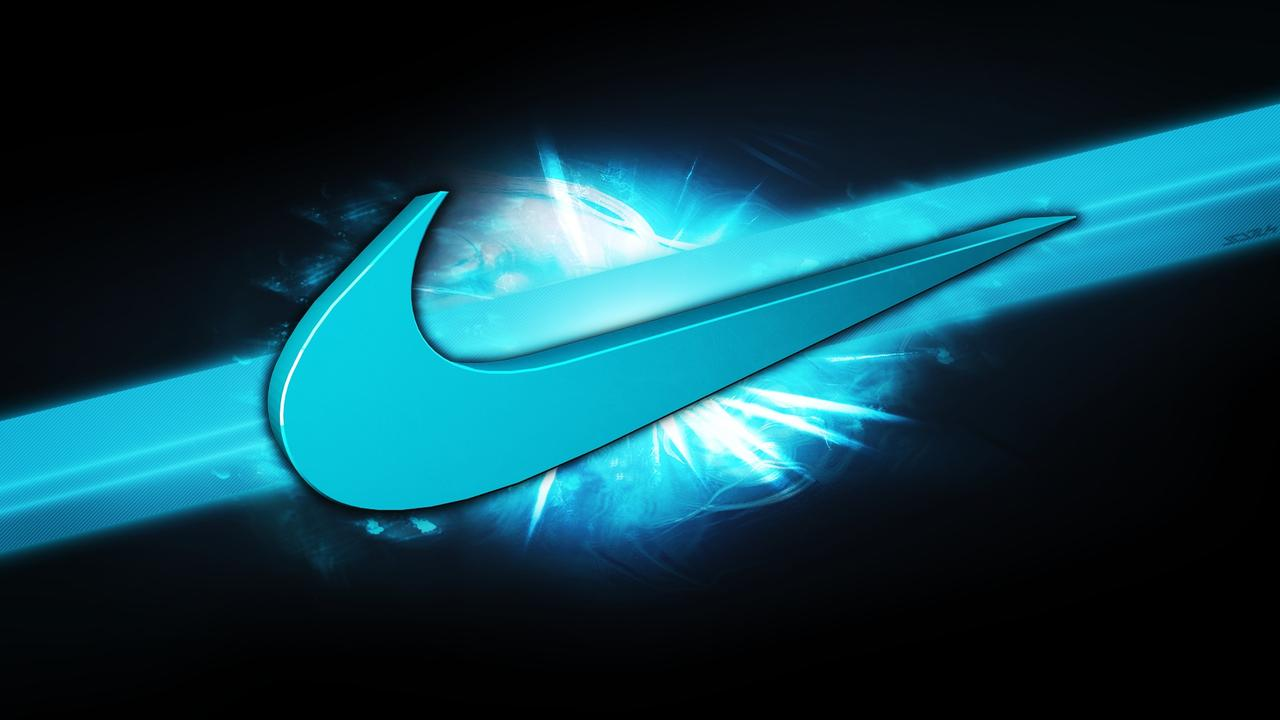 blue nike sign brand abstract wallpaper wallpaper download 1280x720